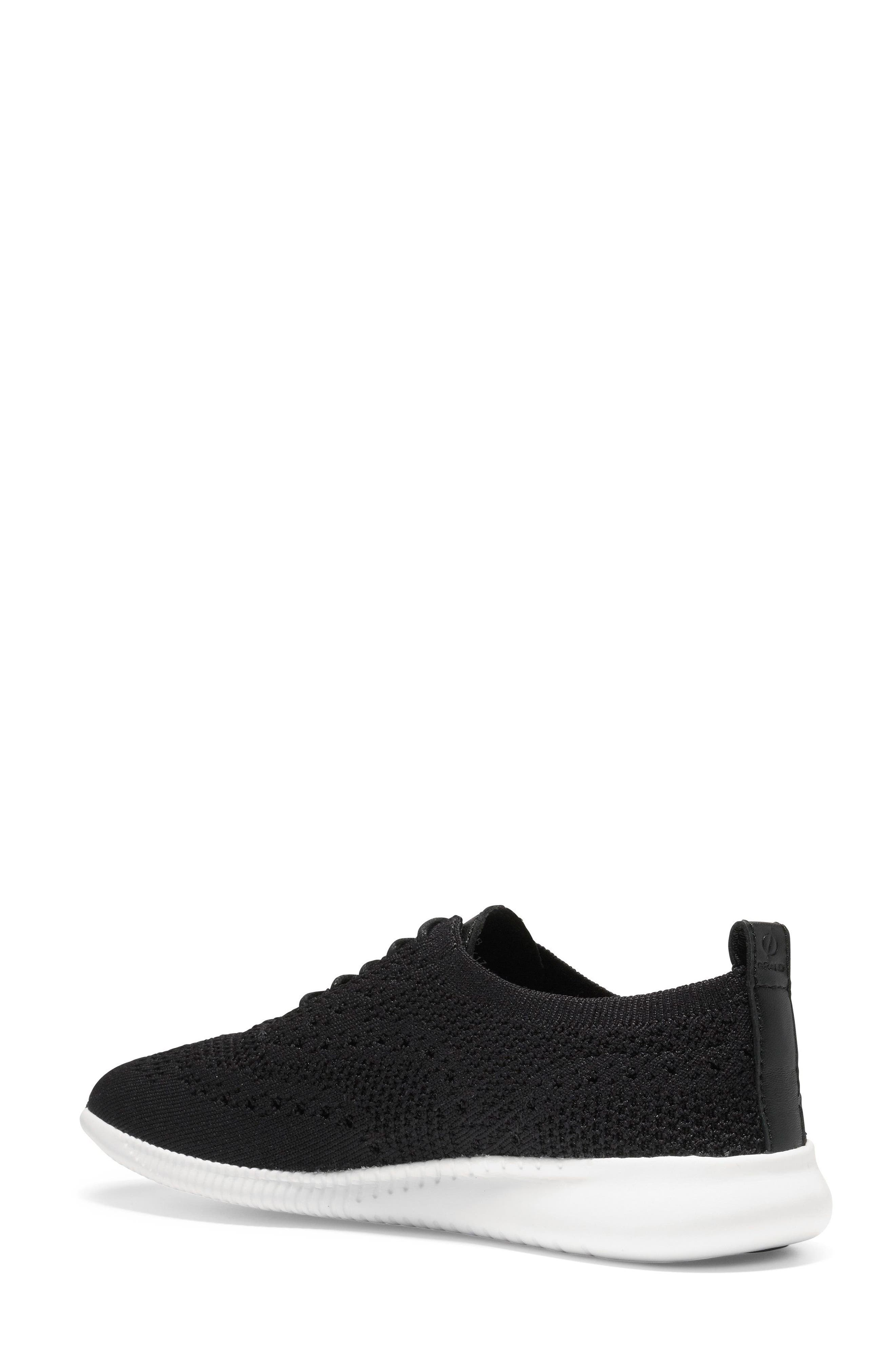 2.ZERØGRAND Stitchlite Wingtip Sneaker,                             Alternate thumbnail 2, color,                             BLACK FABRIC