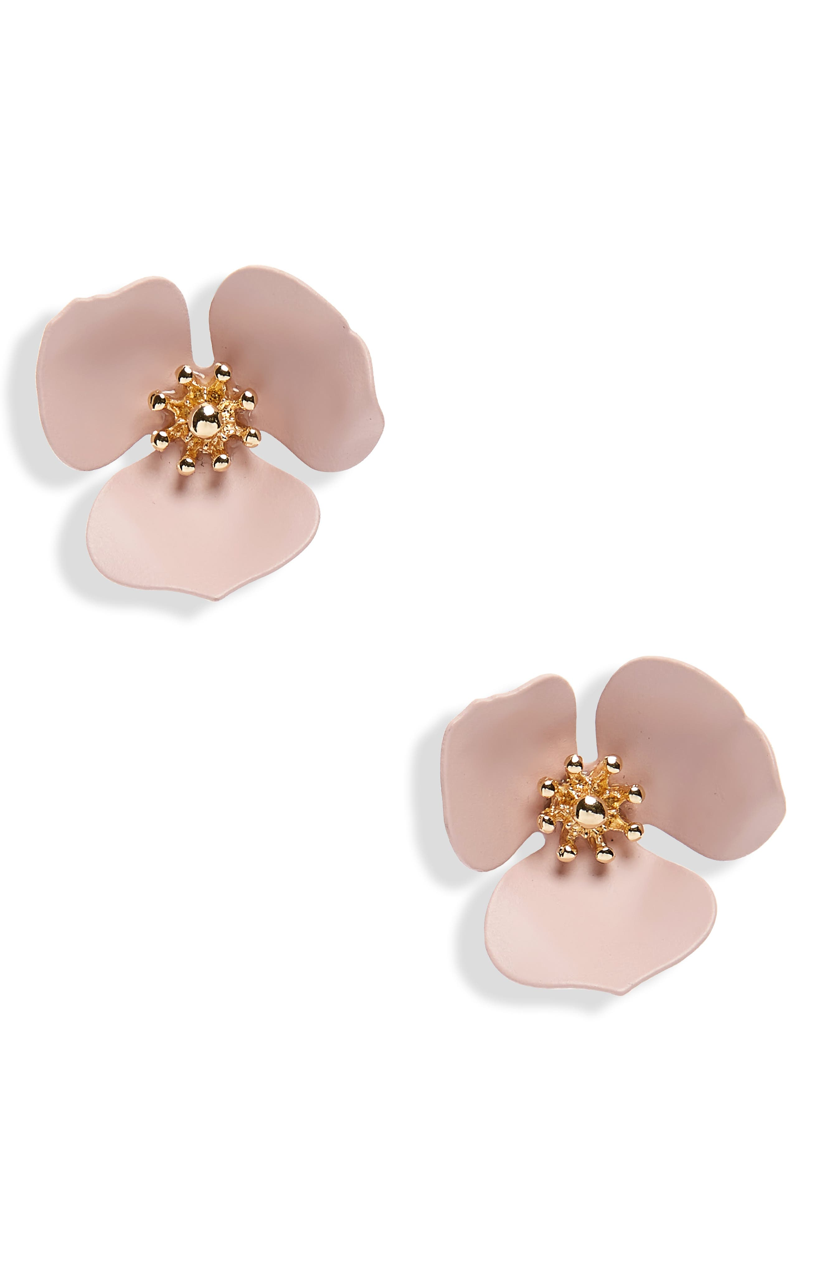 Lily Flower Stud Earrings,                             Main thumbnail 3, color,