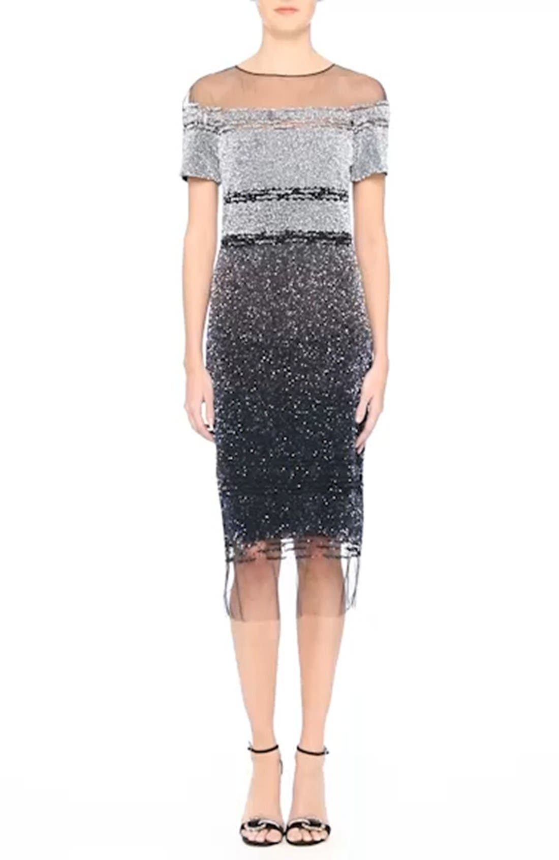 Signature Sequin Cocktail Dress,                             Alternate thumbnail 7, color,                             066