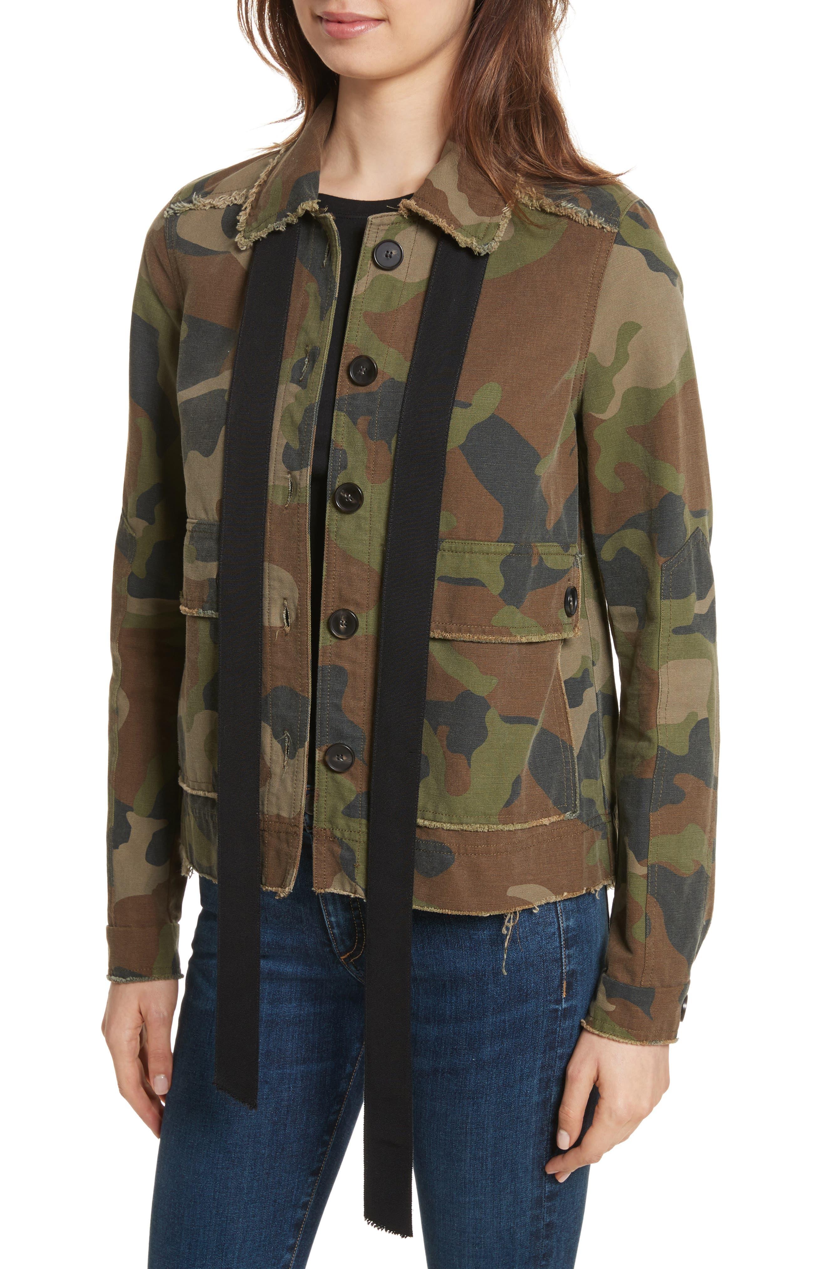 Mercer Camo Print Jacket,                             Alternate thumbnail 4, color,