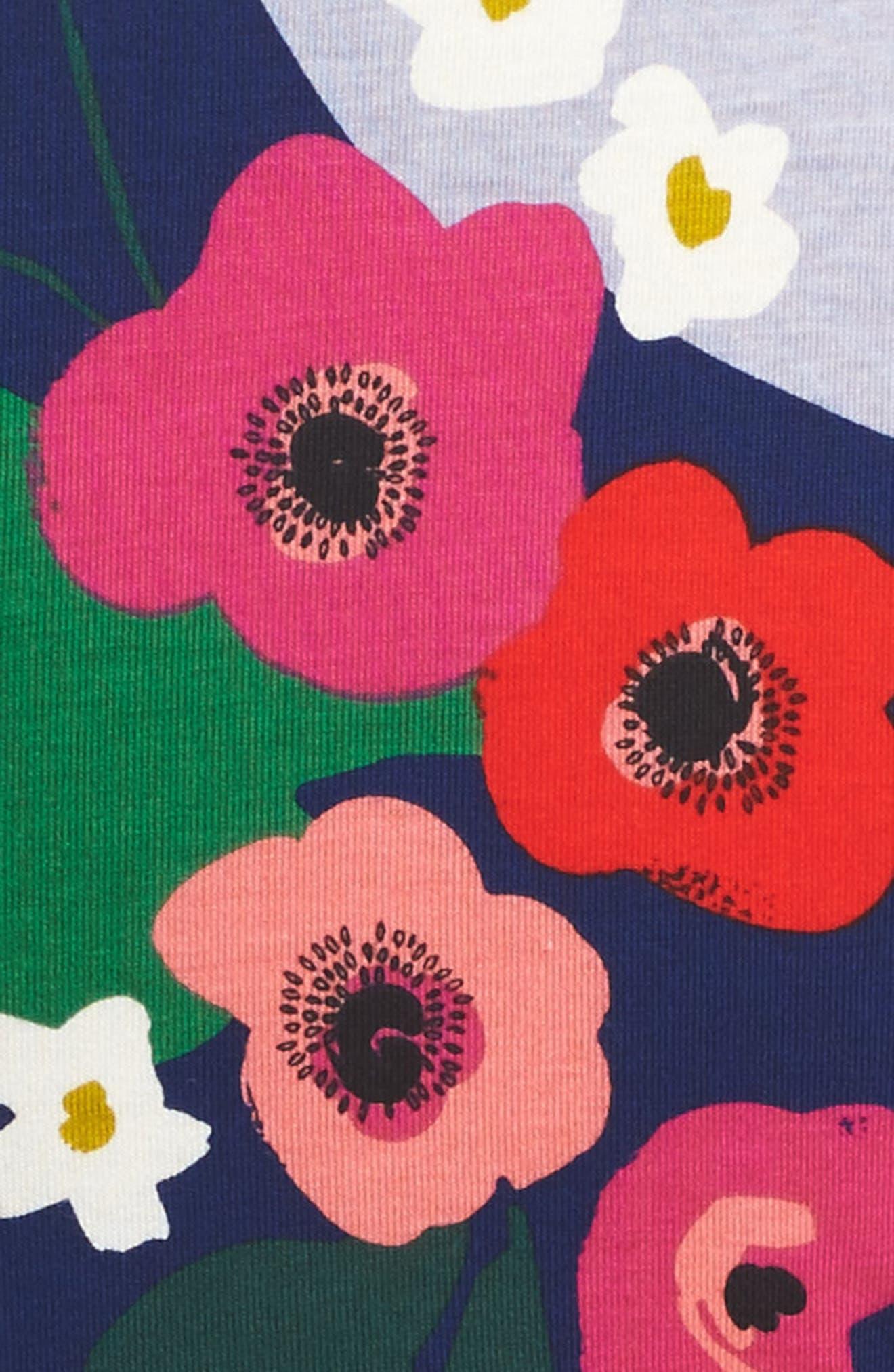 Scotland Garden Wrap Neck Dress,                             Alternate thumbnail 3, color,                             440