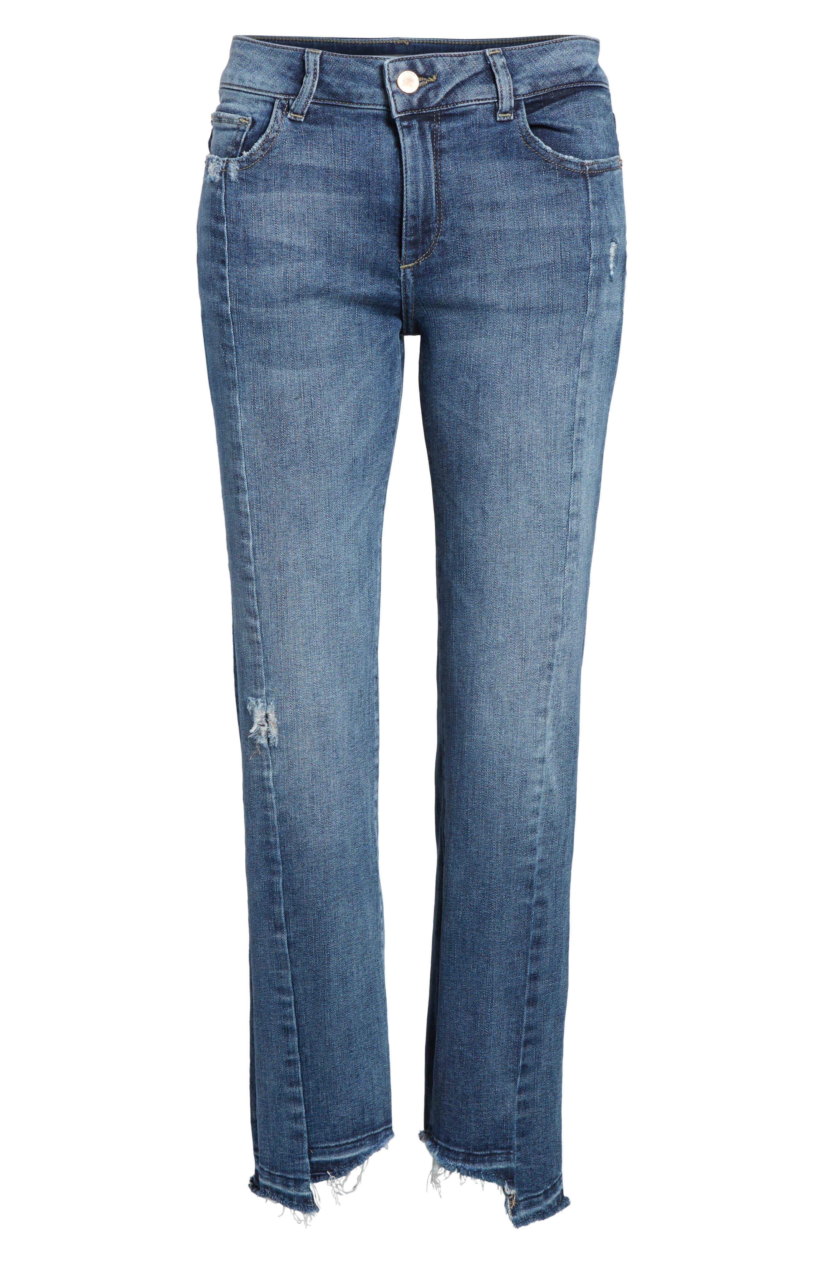 Mara Instasculpt Ankle Straight Leg Jeans,                             Alternate thumbnail 7, color,                             426