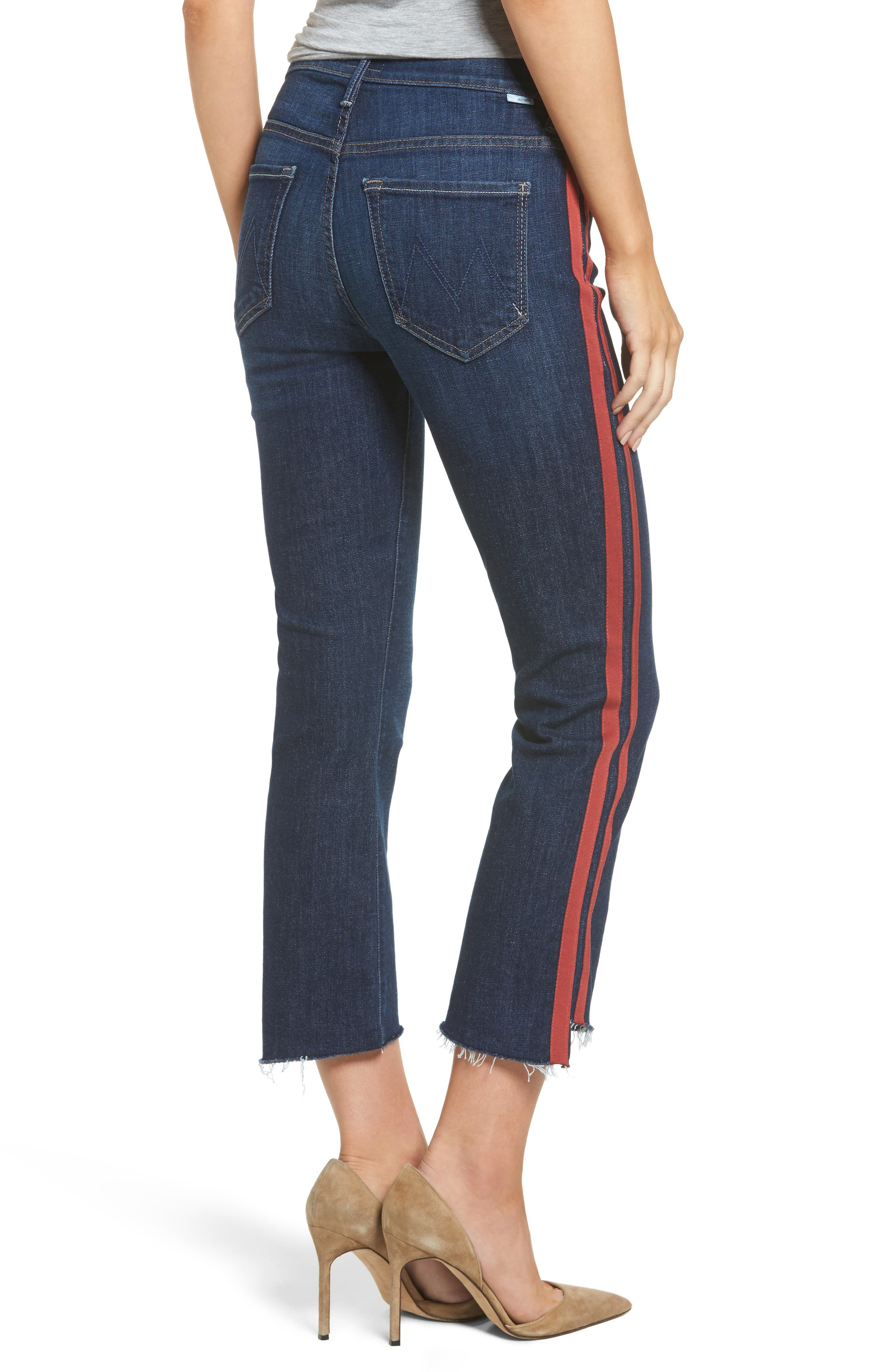 Crop Step Fray Jeans,                             Alternate thumbnail 2, color,                             402