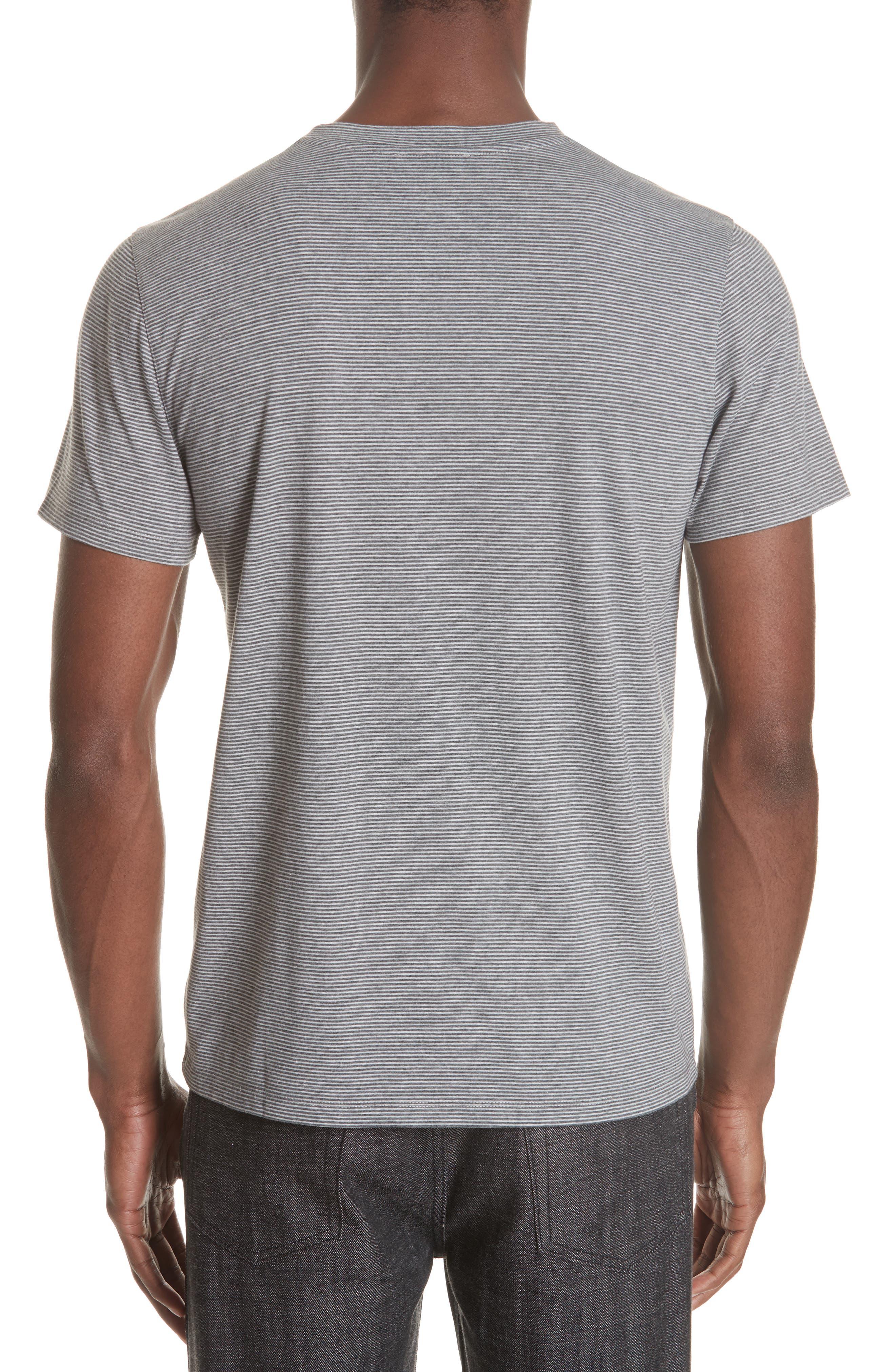 Keanu Striped Pocket T-Shirt,                             Alternate thumbnail 2, color,                             PLA GRIS