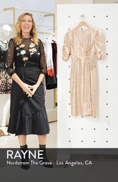Sequin Faux Wrap Dress, sales video thumbnail