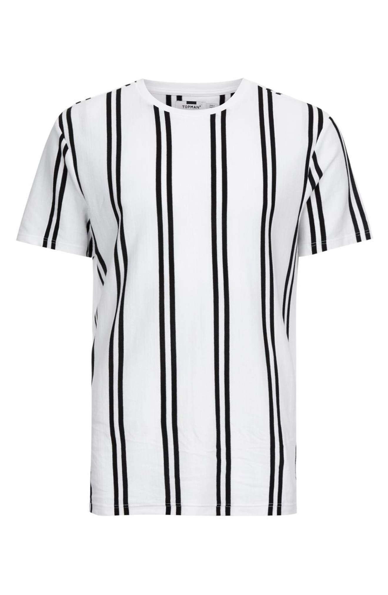 Dilan Stripe T-Shirt,                             Alternate thumbnail 4, color,                             100