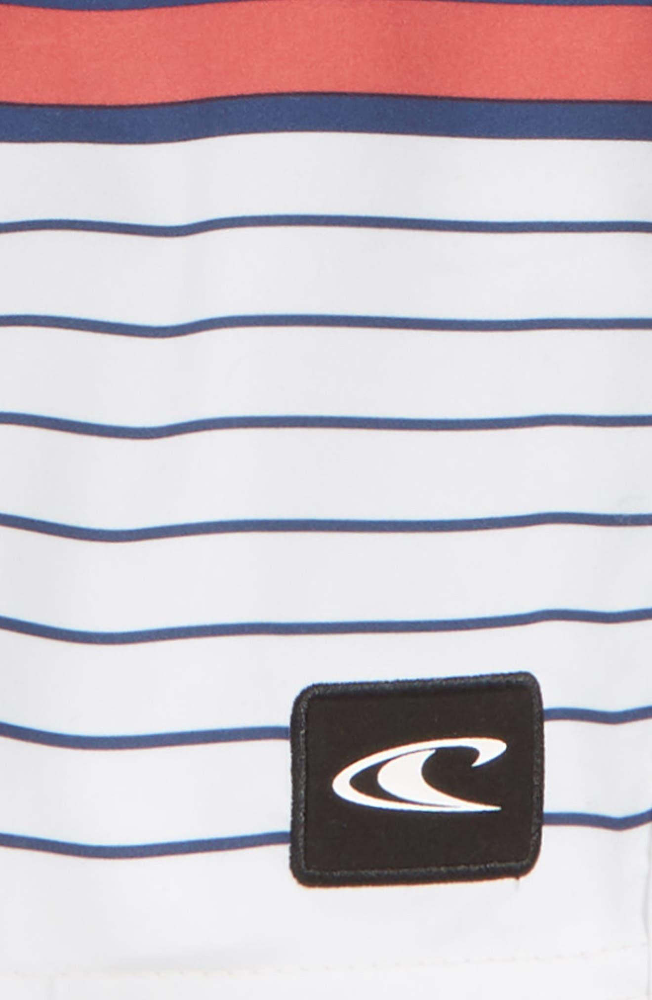 Lennox Stripe Board Shorts,                             Alternate thumbnail 9, color,