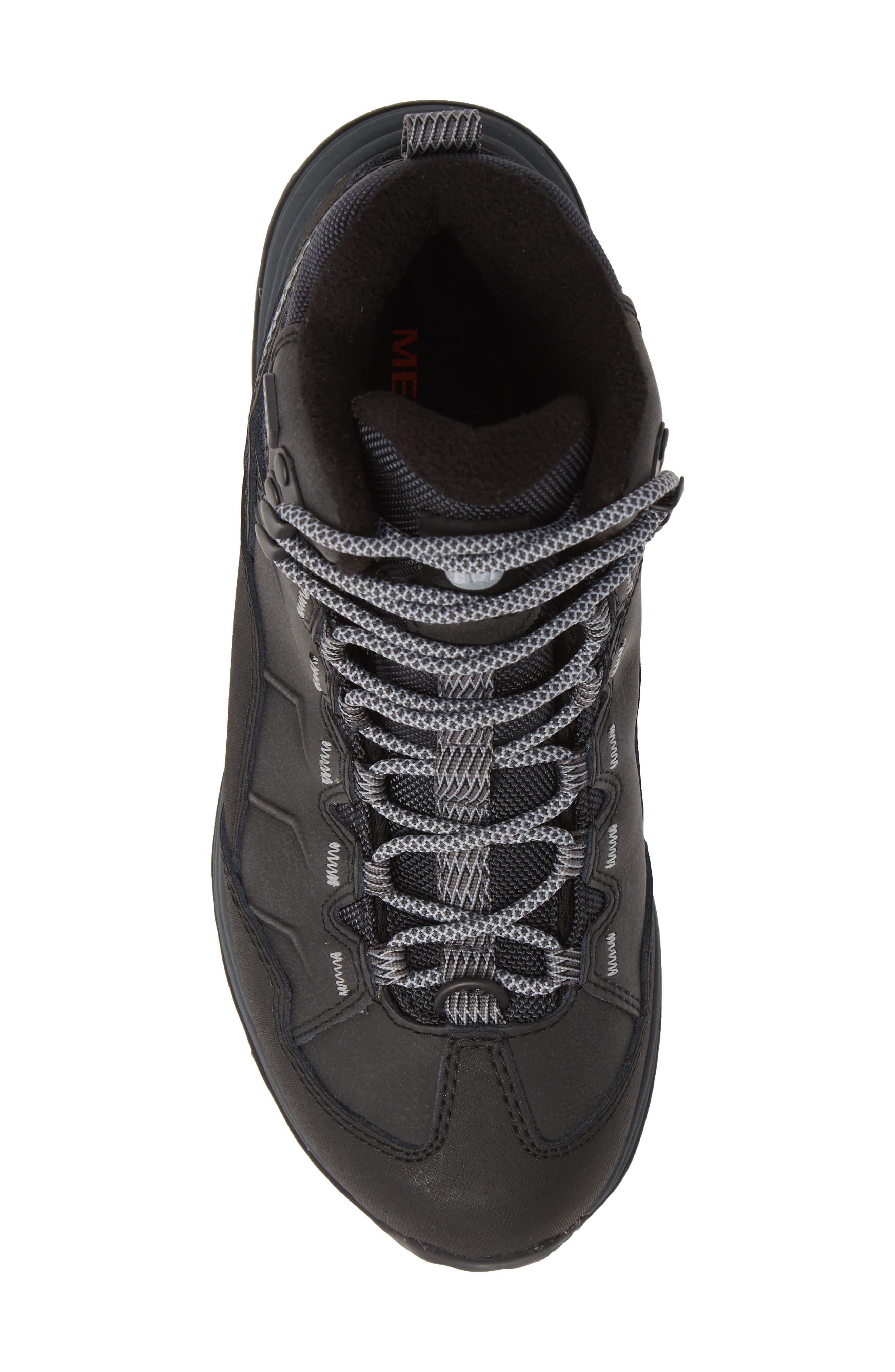 Thermo Chill Waterproof Snow Boot,                             Alternate thumbnail 5, color,                             BLACK LEATHER