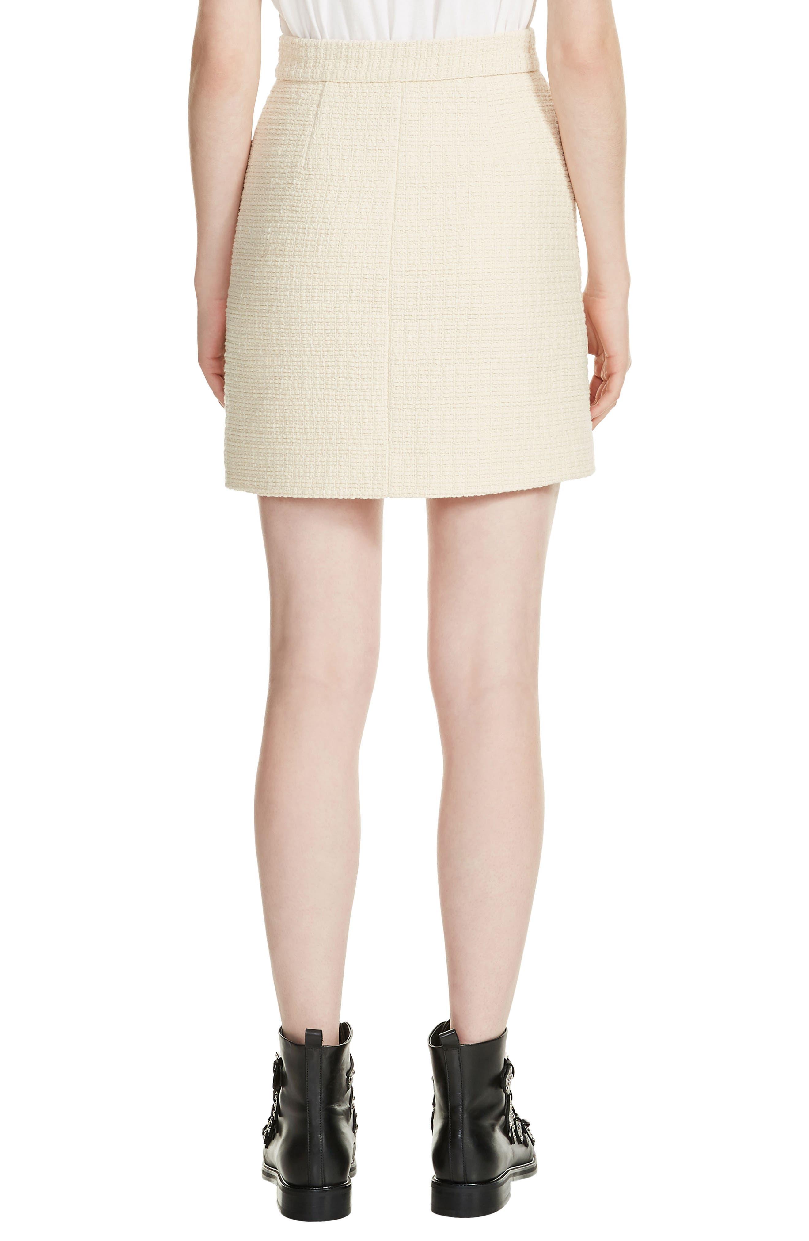 Tweed Skirt,                             Alternate thumbnail 2, color,                             100