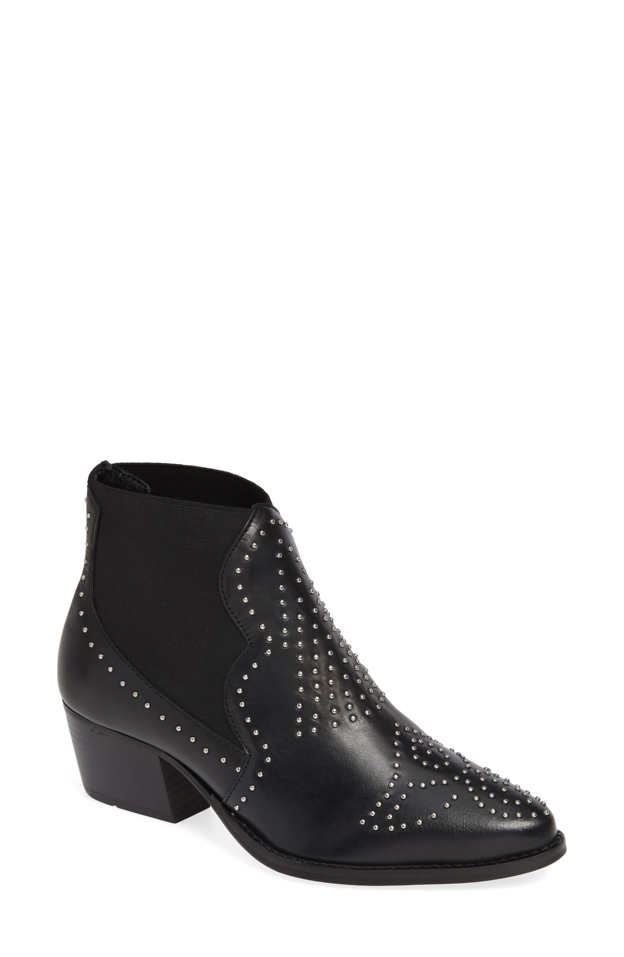 Charles By Charles David Zach Studded Bootie- Black