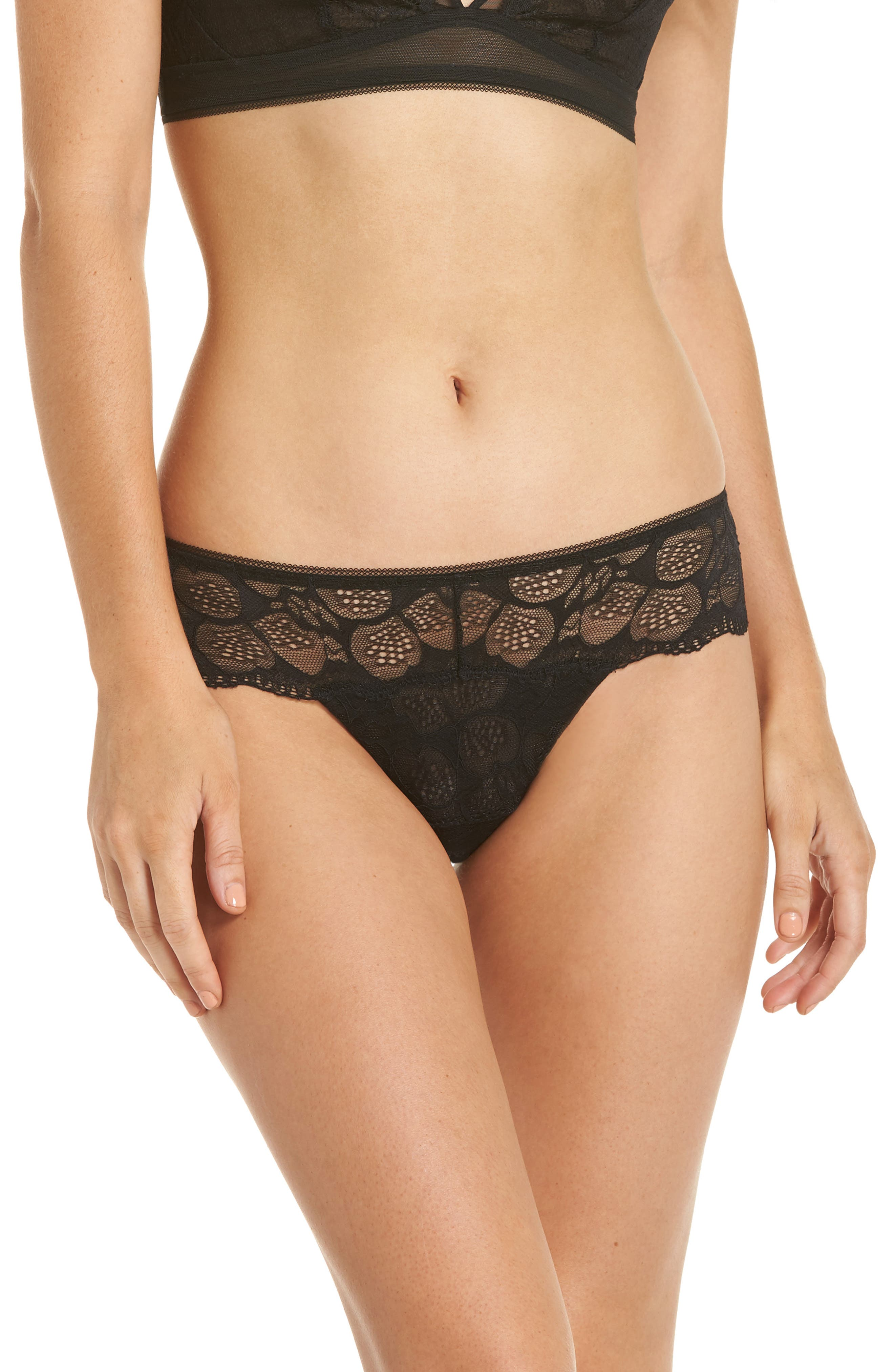 ADDICTION NOUVELLE LINGERIE Love Is On The Air Tanga in Black