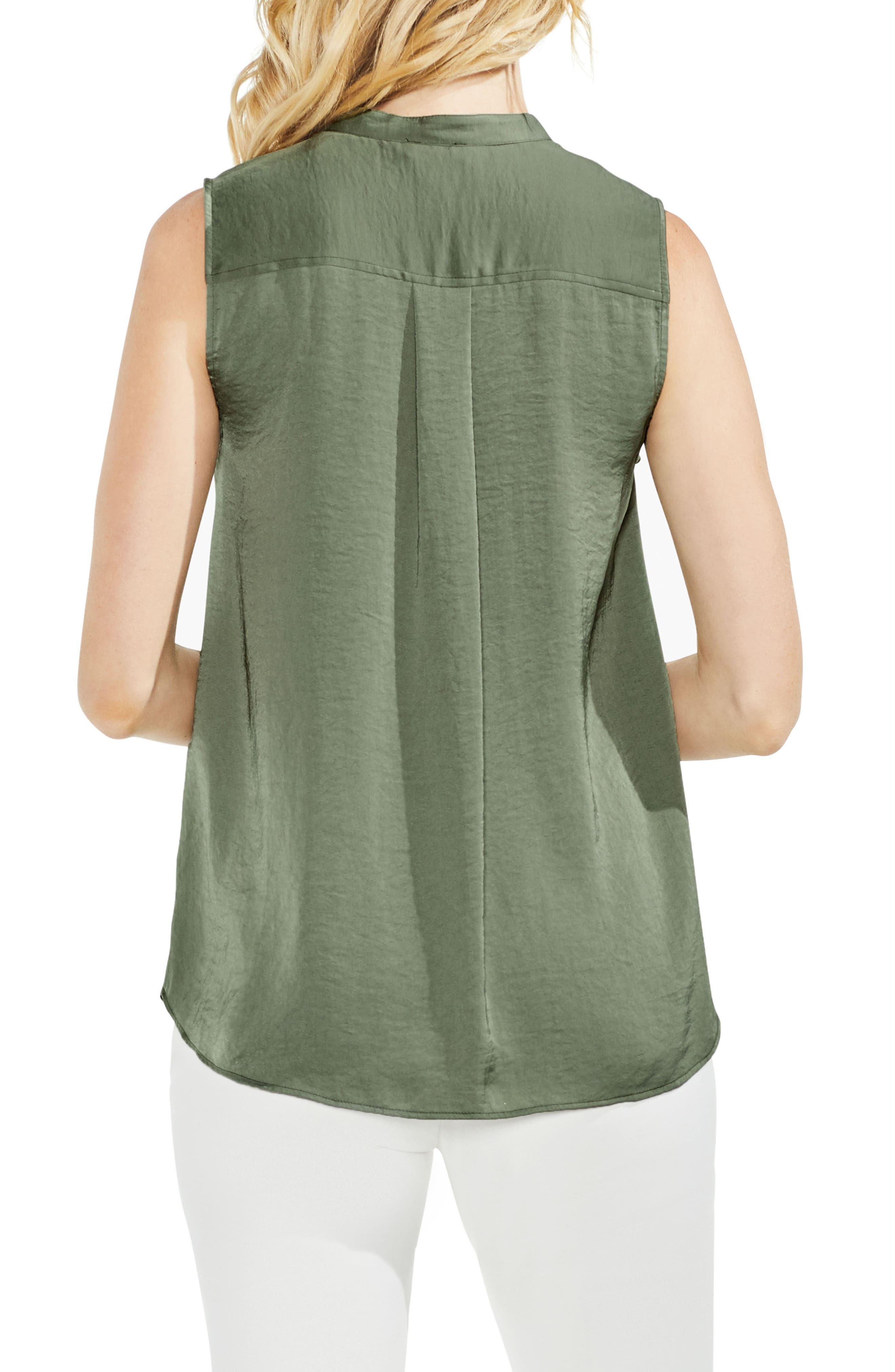 Sleeveless Henley Blouse,                             Alternate thumbnail 6, color,