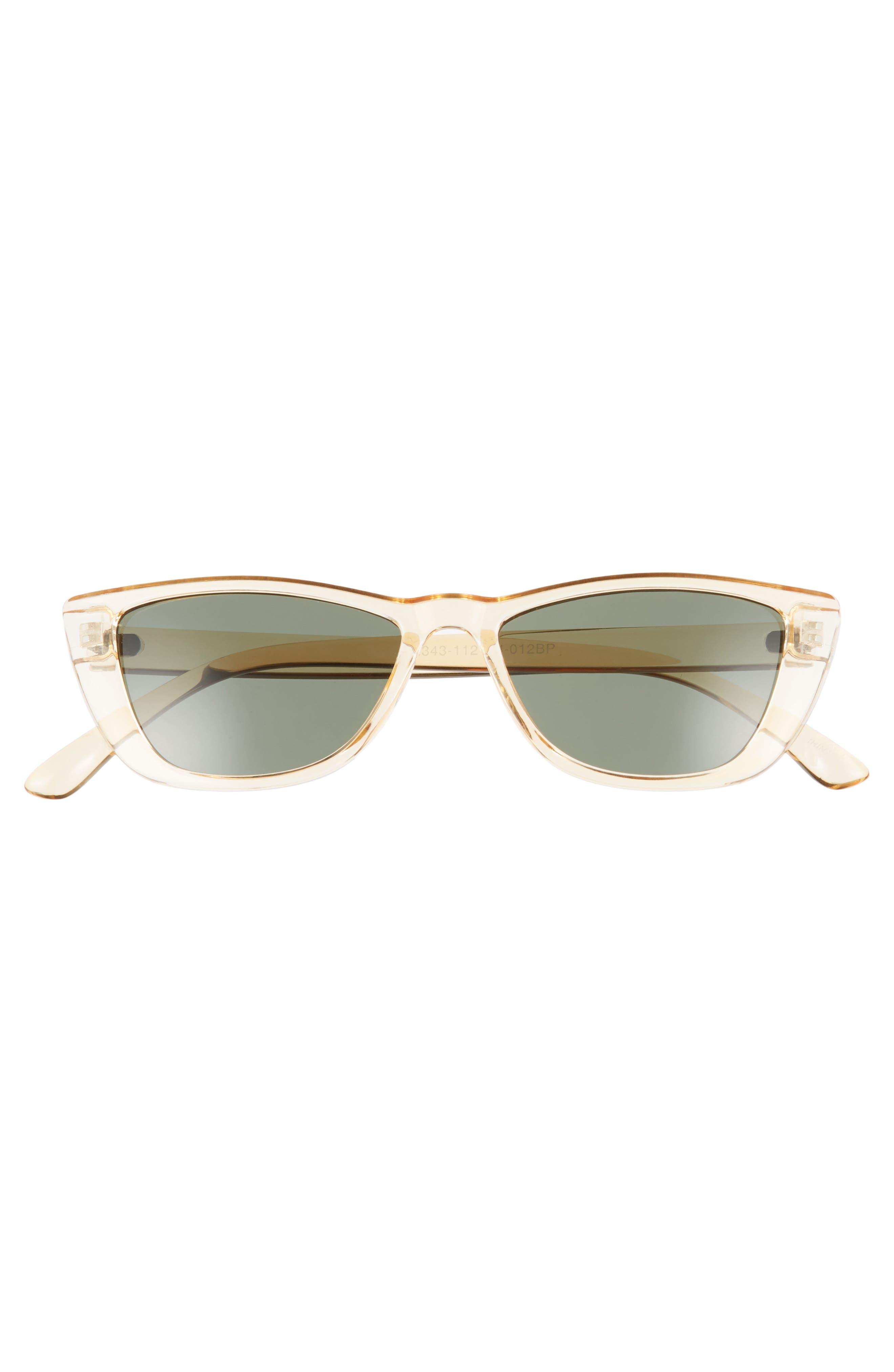 49mm Flat Top Rectangular Sunglasses,                             Alternate thumbnail 3, color,                             700