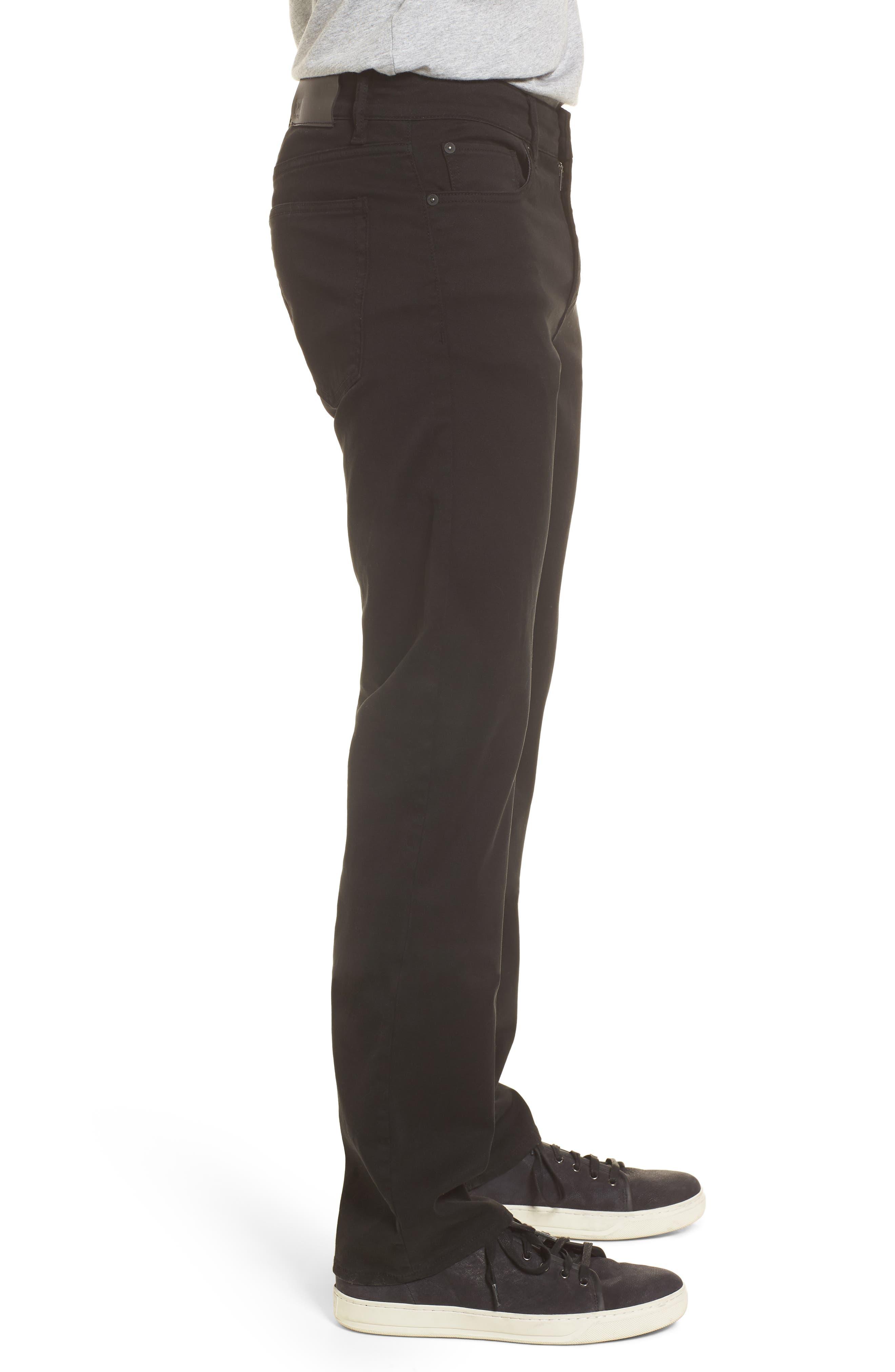 Avery Slim Straight Chino Pants,                             Alternate thumbnail 3, color,                             COAL