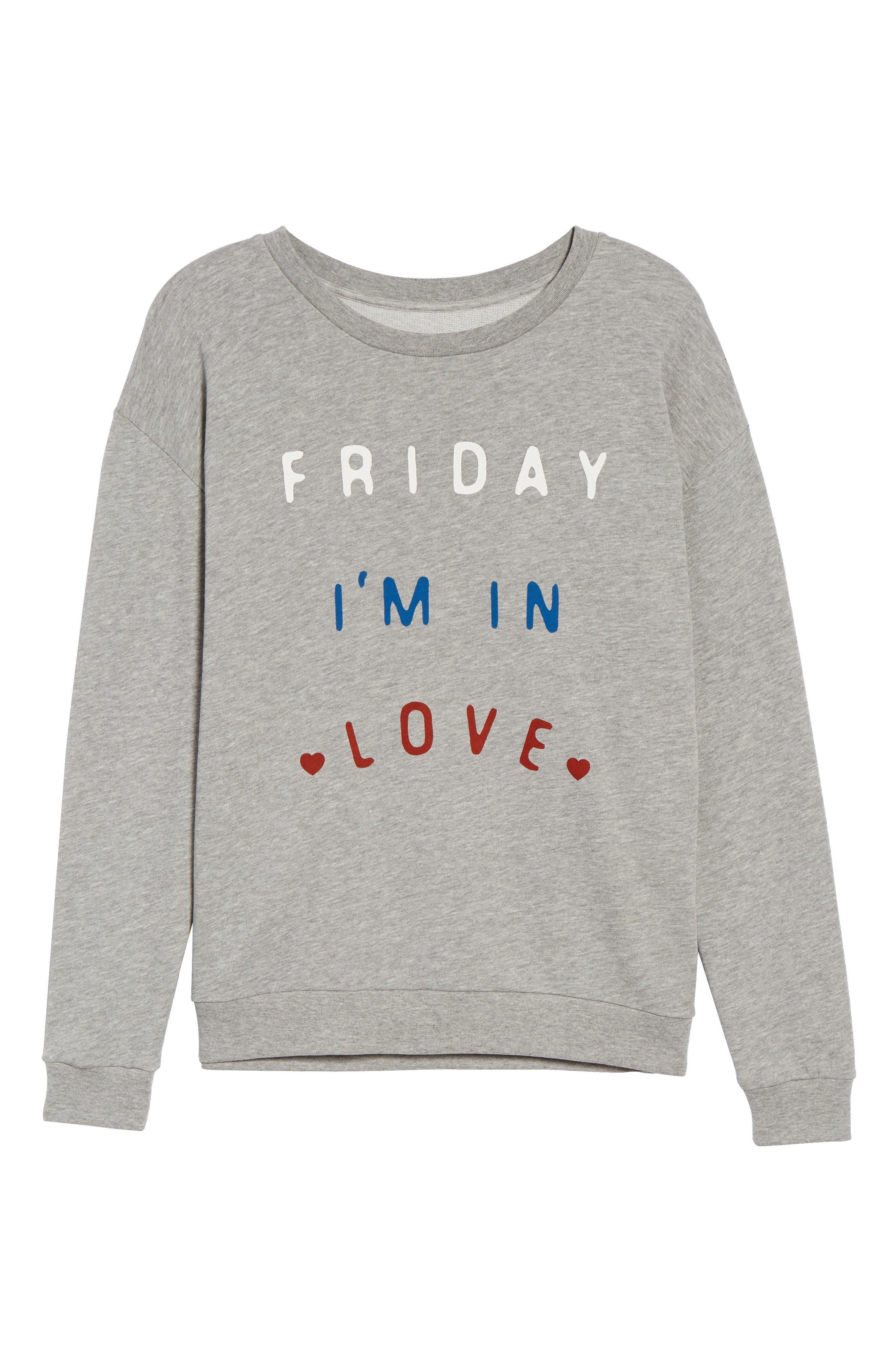 Friday I'm In Love Sweatshirt,                             Alternate thumbnail 6, color,                             020