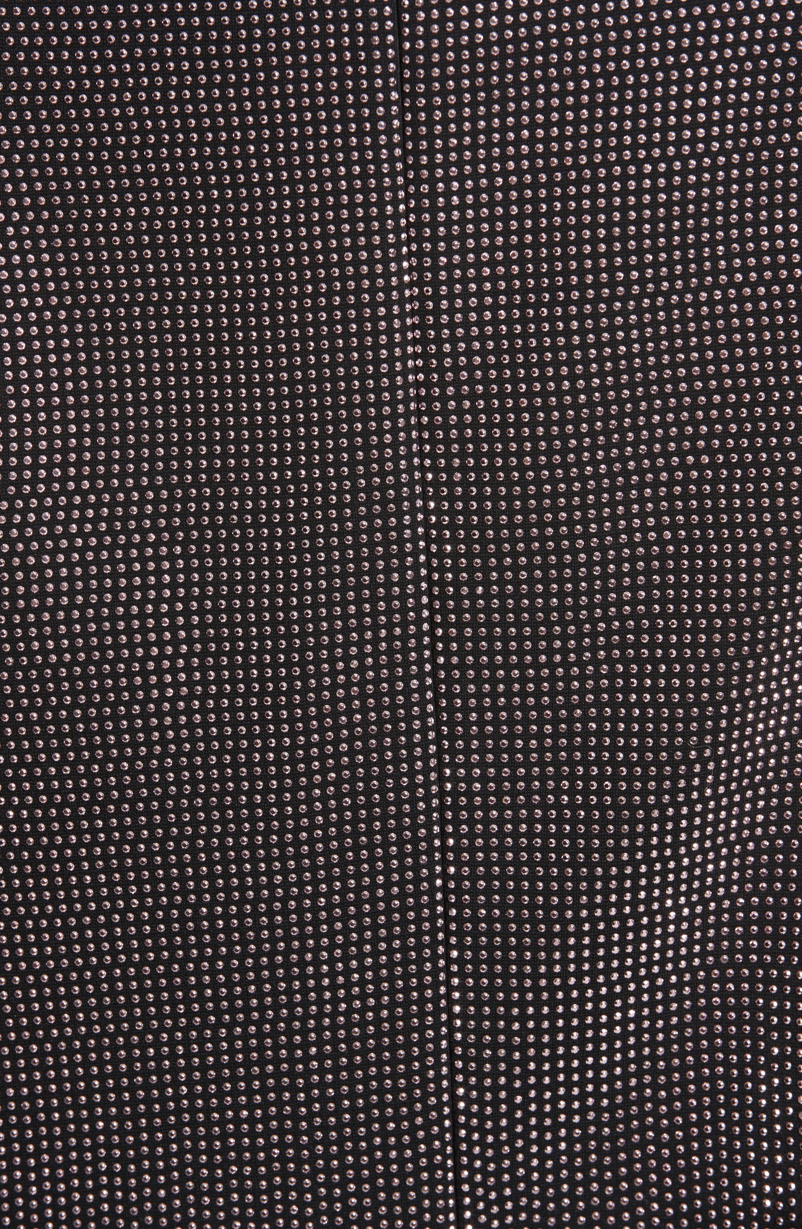 Rhinestone Halter Dress,                             Alternate thumbnail 3, color,                             001