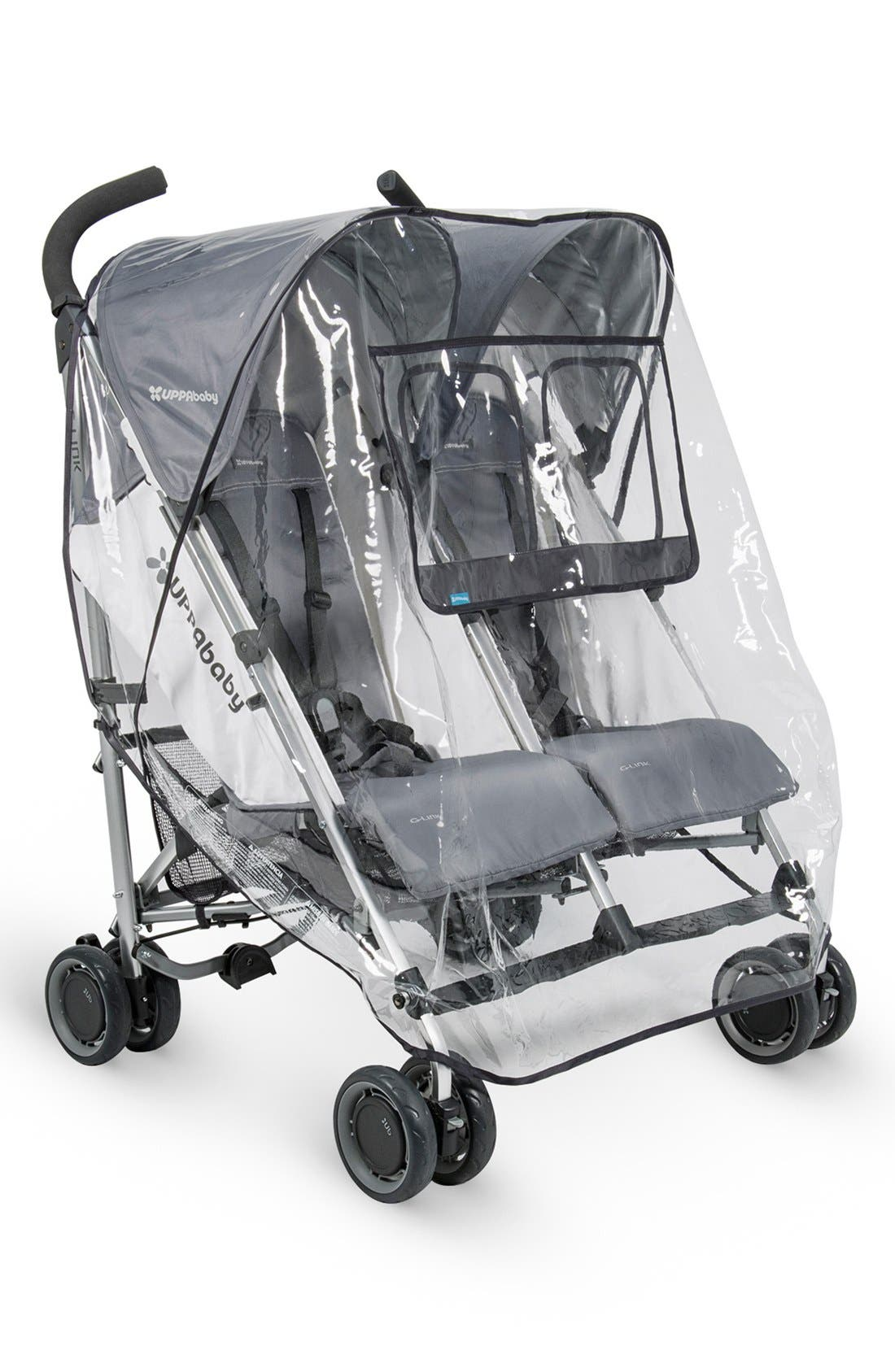 Rain Shield for UPPAbaby G-LINK<sup>™</sup> Side by Side Double Strollers,                             Main thumbnail 1, color,                             black