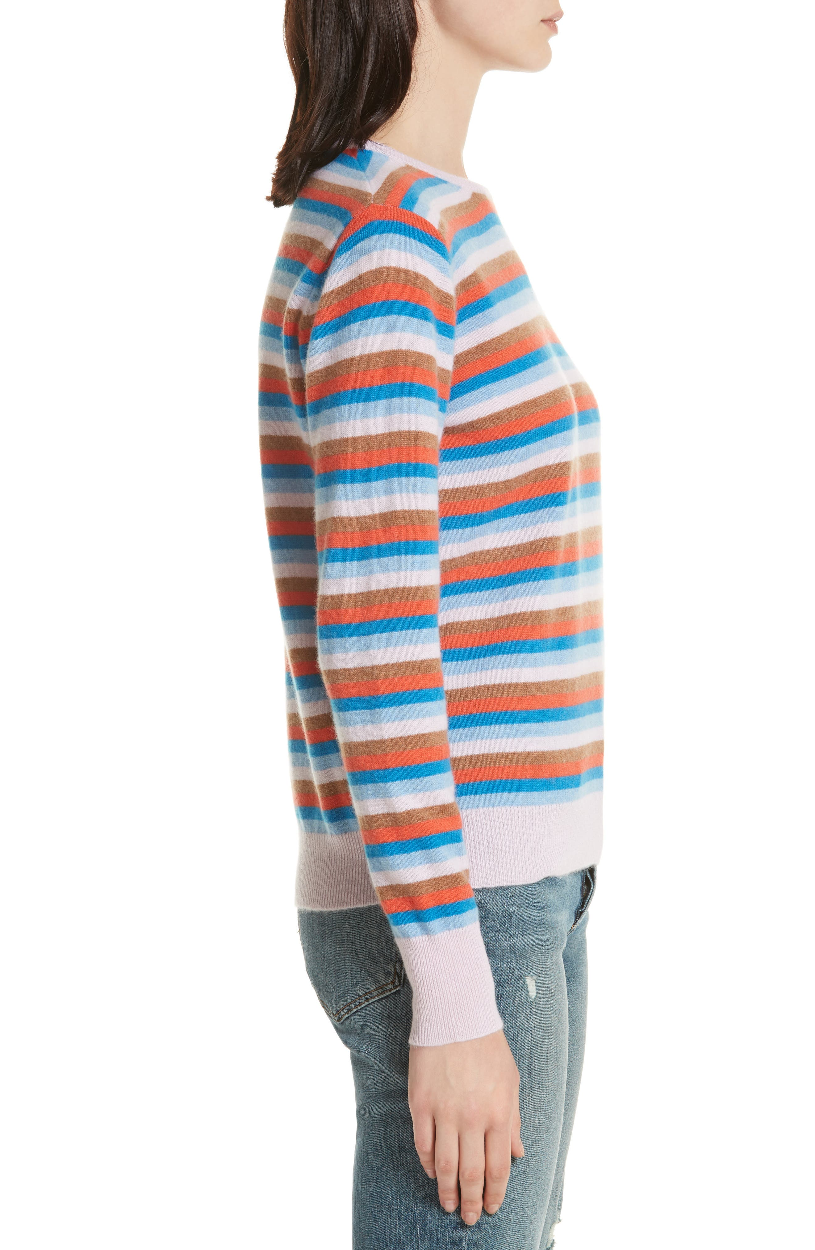 The Raven Cashmere Sweater,                             Alternate thumbnail 3, color,