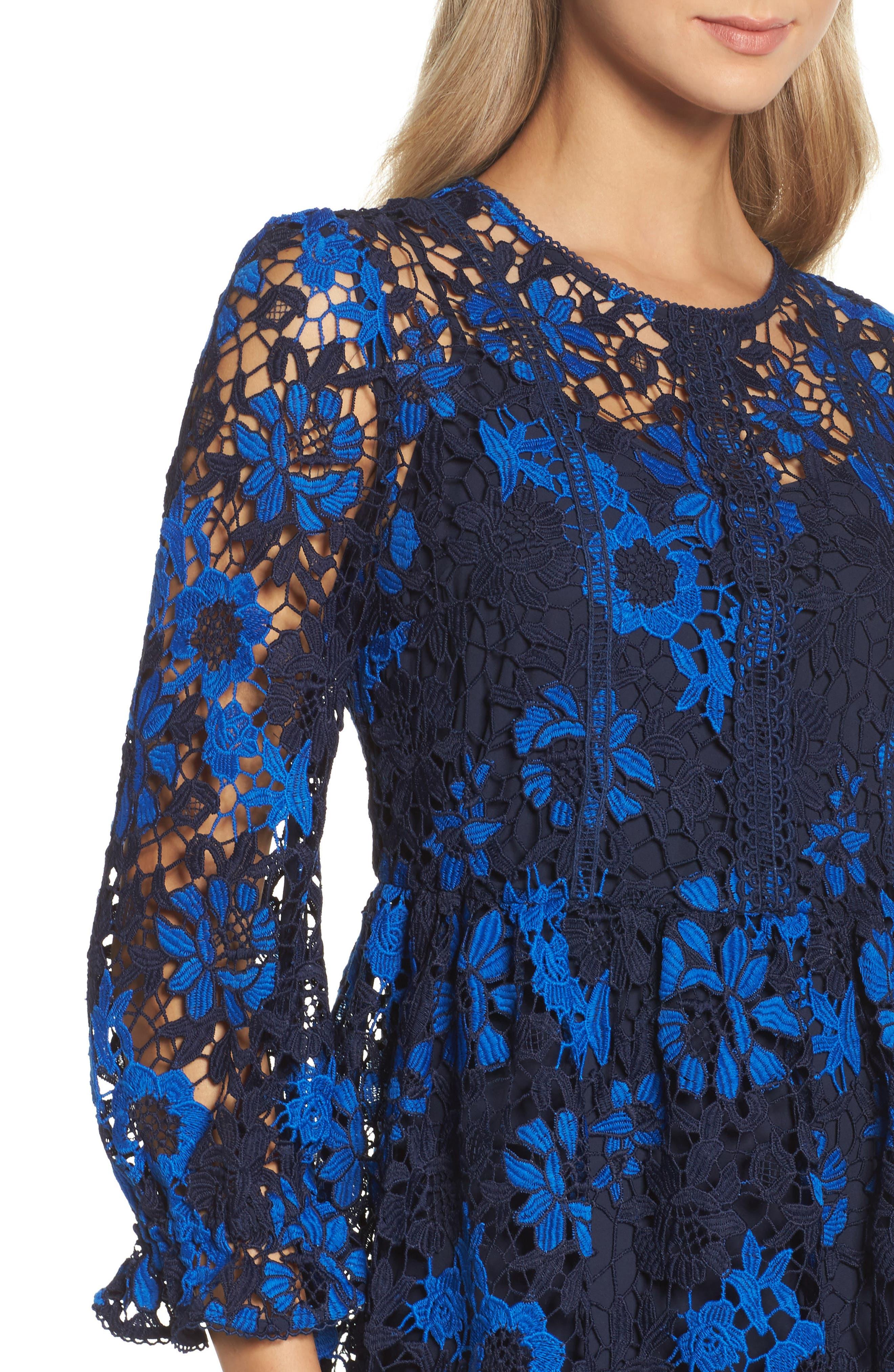 Musa Lace Dress,                             Alternate thumbnail 4, color,