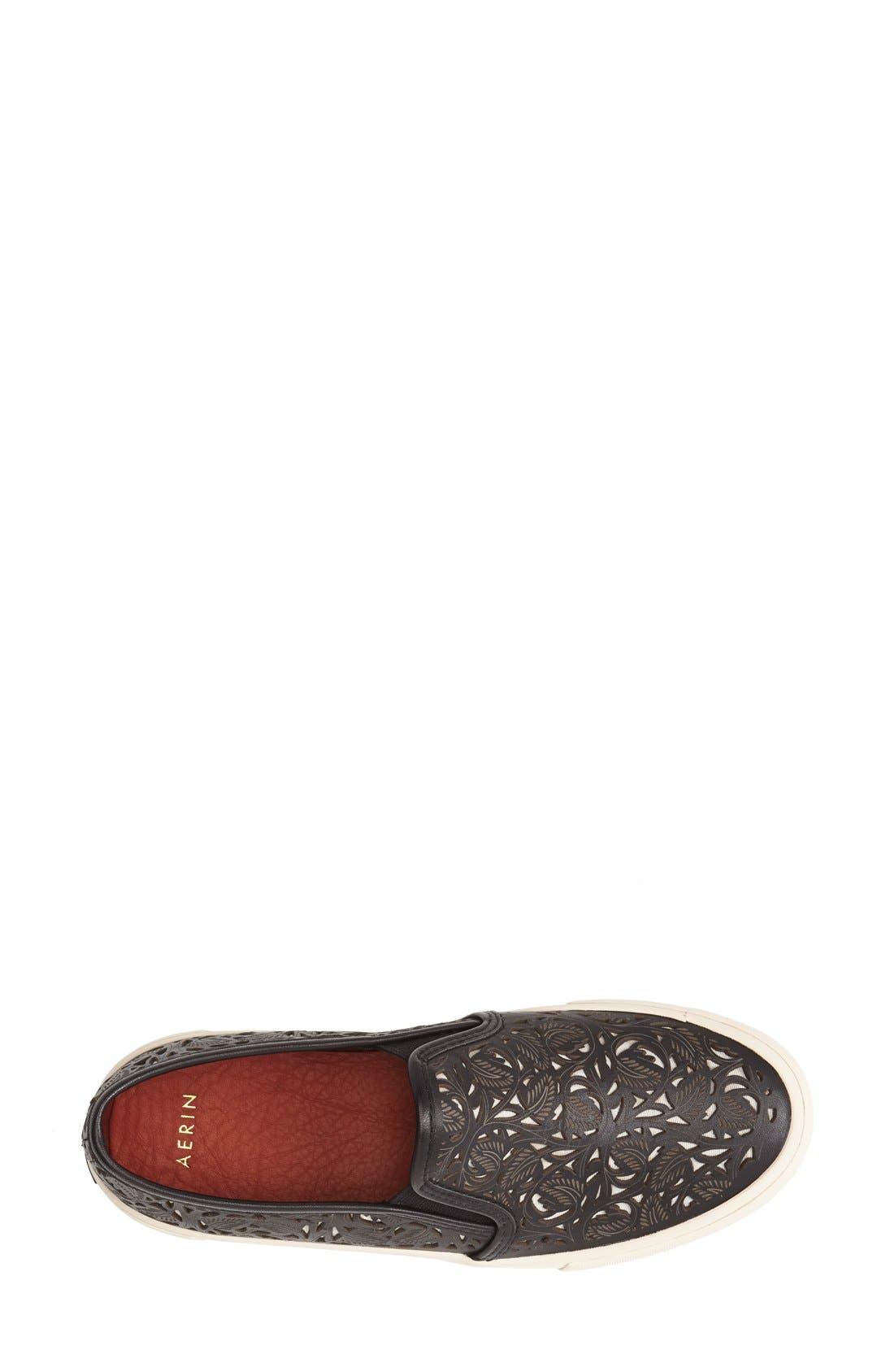 AERIN,                             'Marsden' Perforated Slip-On Sneaker,                             Alternate thumbnail 2, color,                             001