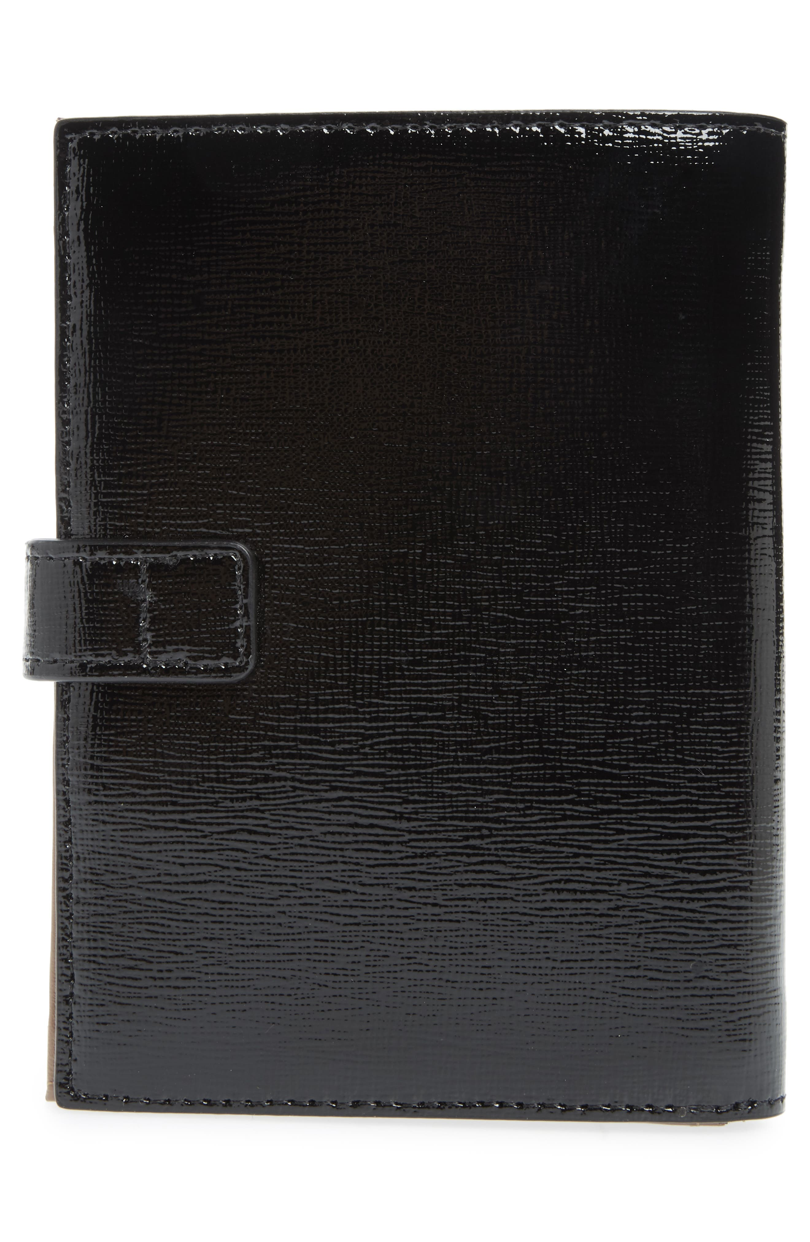 Lauren Leather Bifold Wallet,                             Alternate thumbnail 4, color,                             BLACK