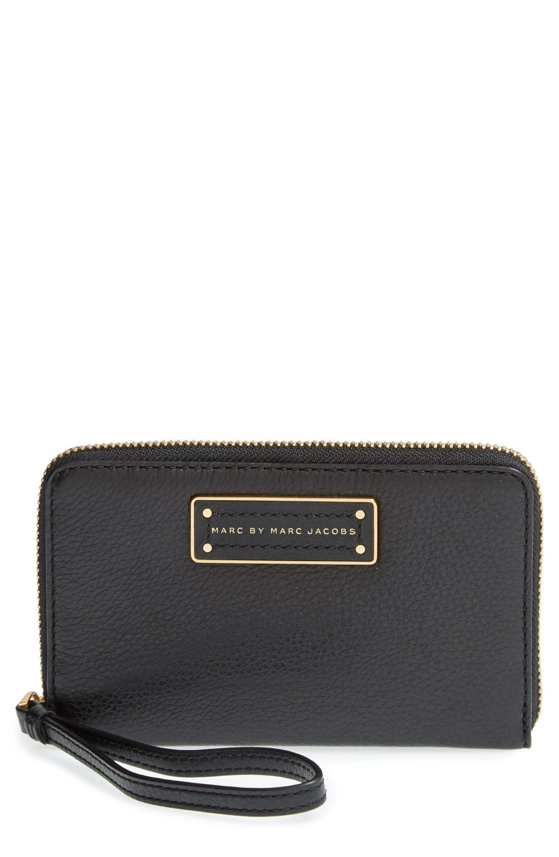 MARC JACOBS,                             MARC BY MARC JACOBS 'Too Hot To Handle - Wingman' Wallet Wristlet,                             Main thumbnail 1, color,                             001
