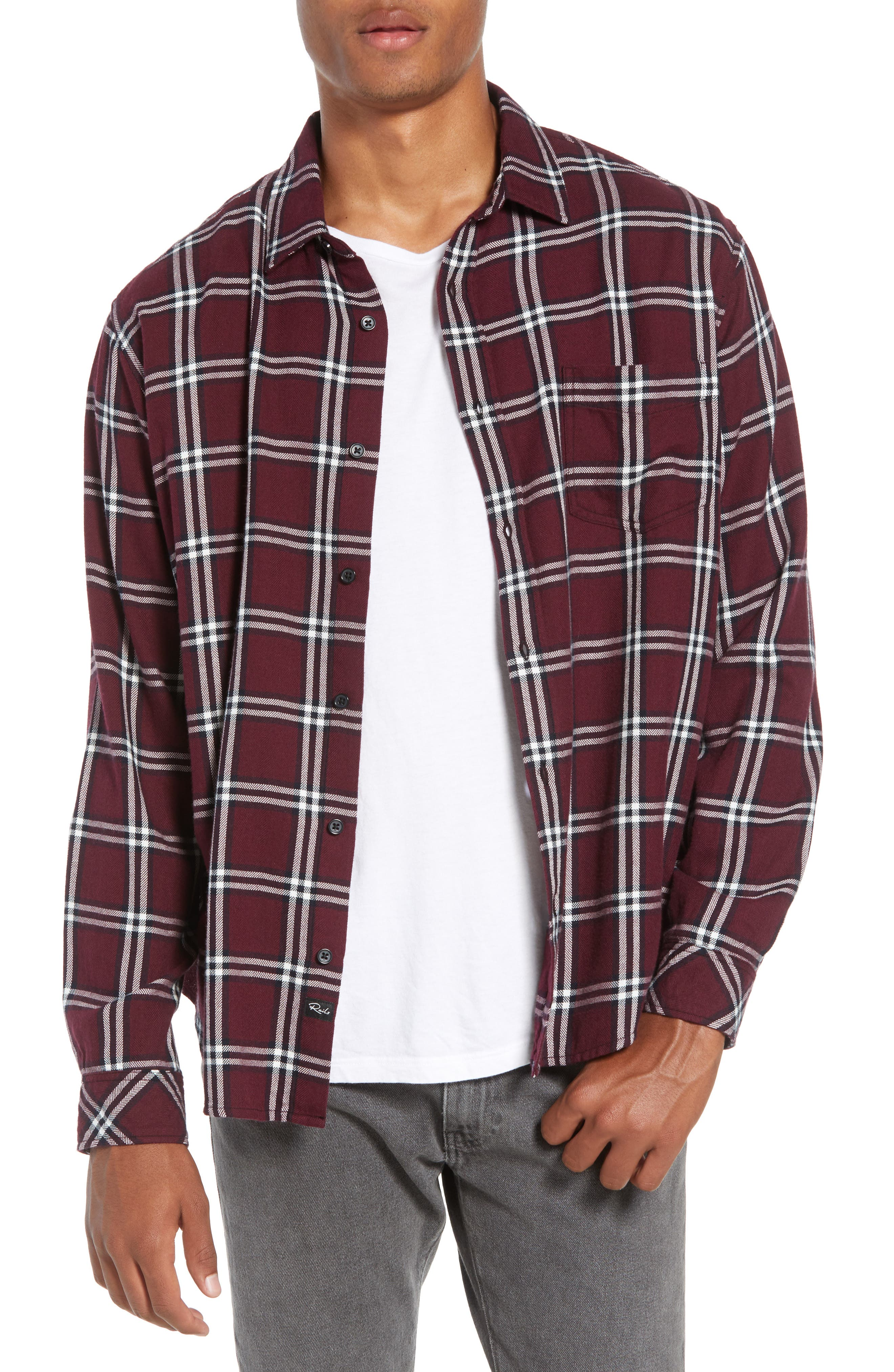 Lennox Regular Fit Plaid Sport Shirt, Main, color, 001