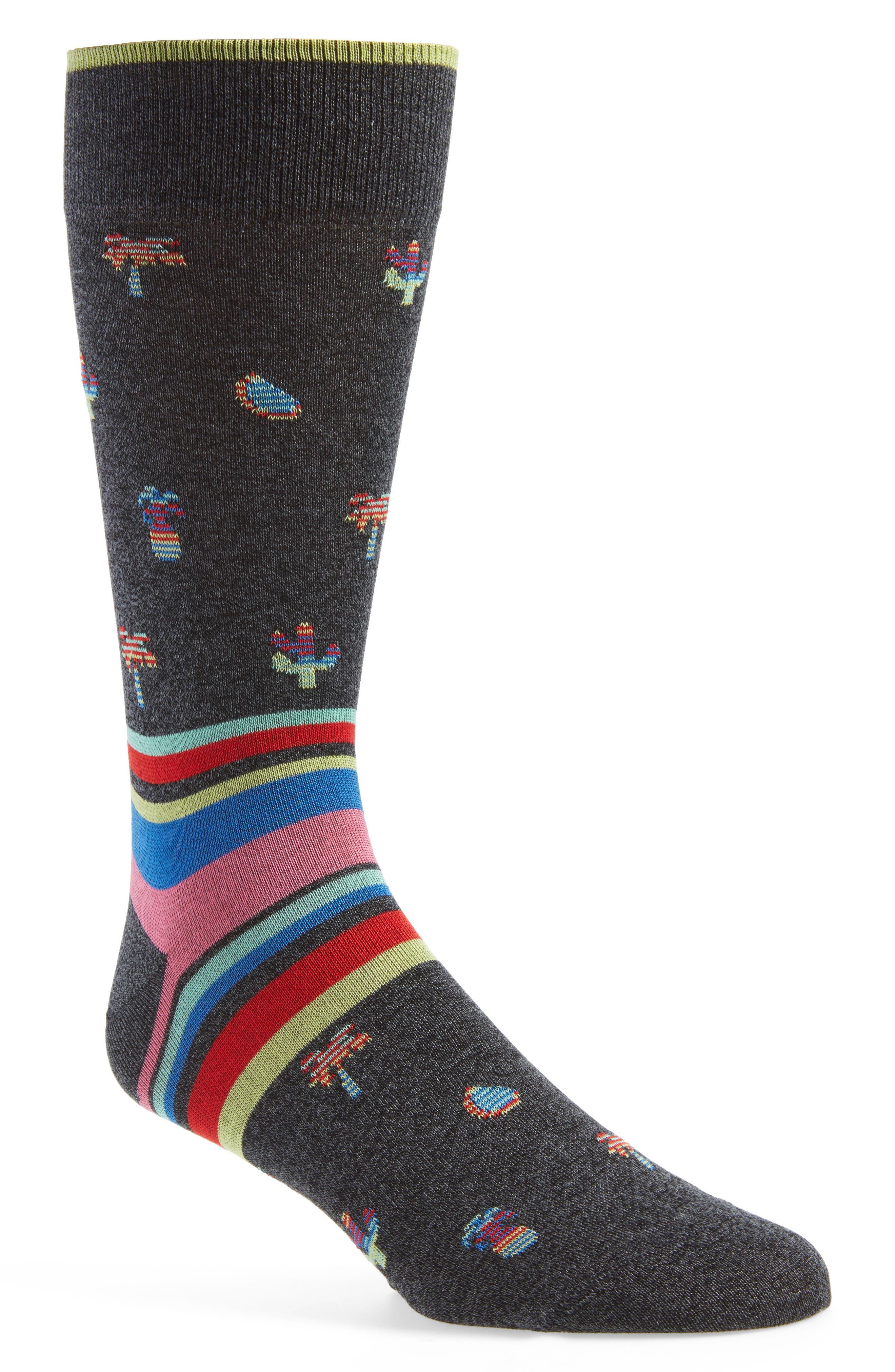 Mercerized Cotton Blend Socks,                             Main thumbnail 1, color,