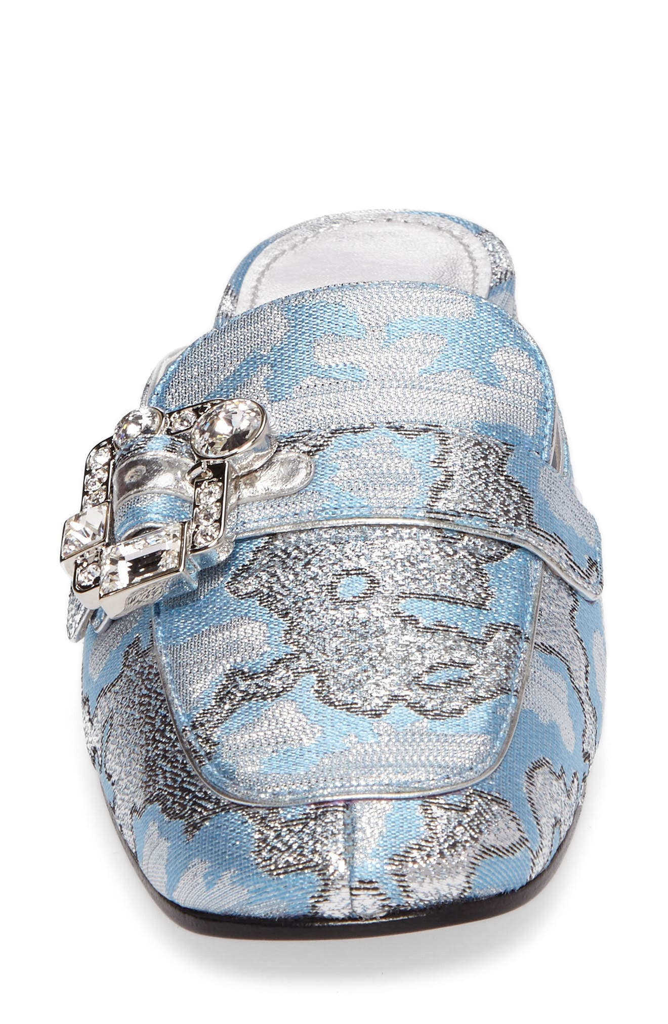 Crystal Buckle Loafer Mule,                             Alternate thumbnail 4, color,