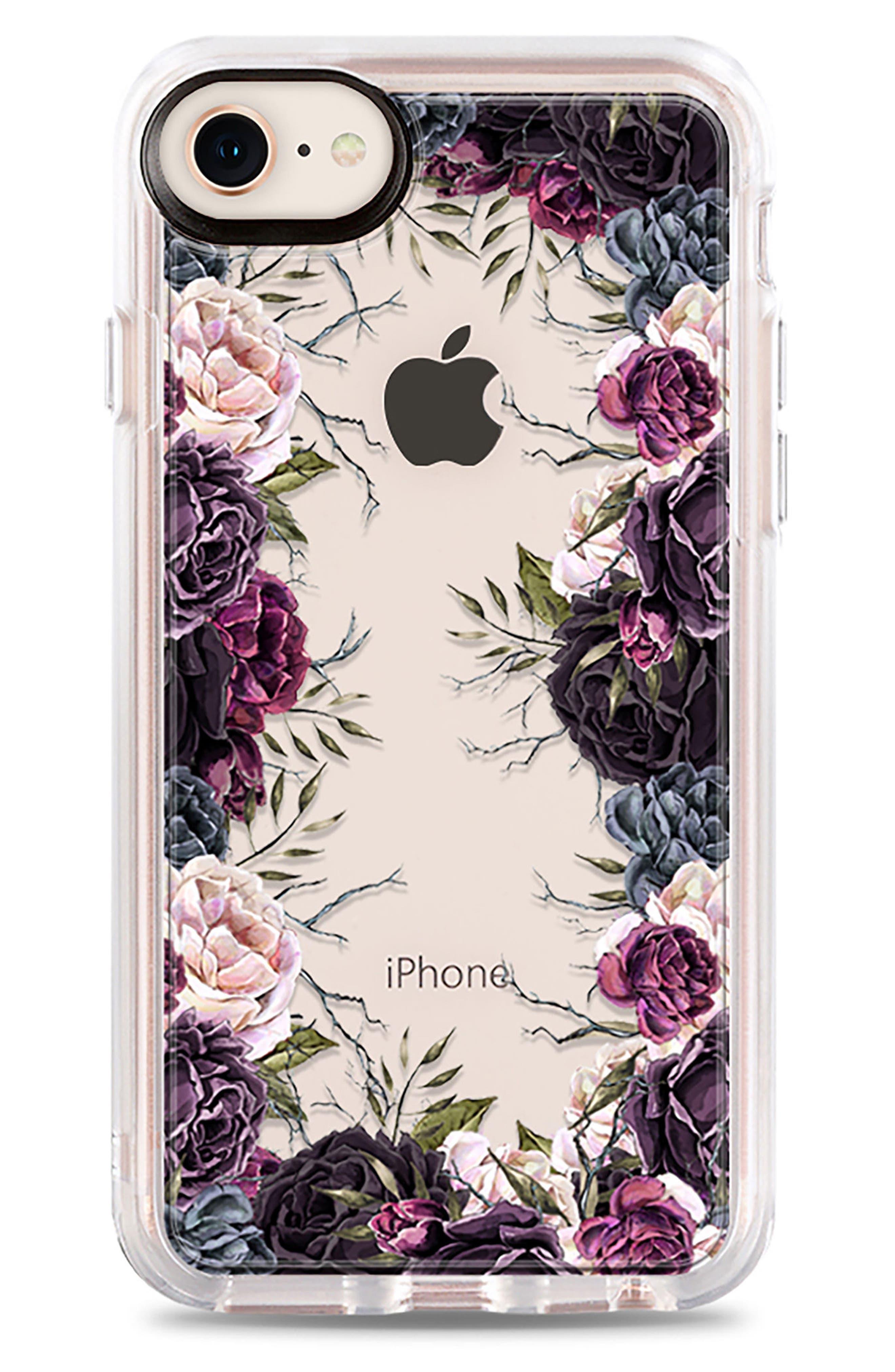 My Secret Garden Transparent iPhone 7/8 & 7/8 Plus Case,                             Main thumbnail 1, color,                             PURPLE