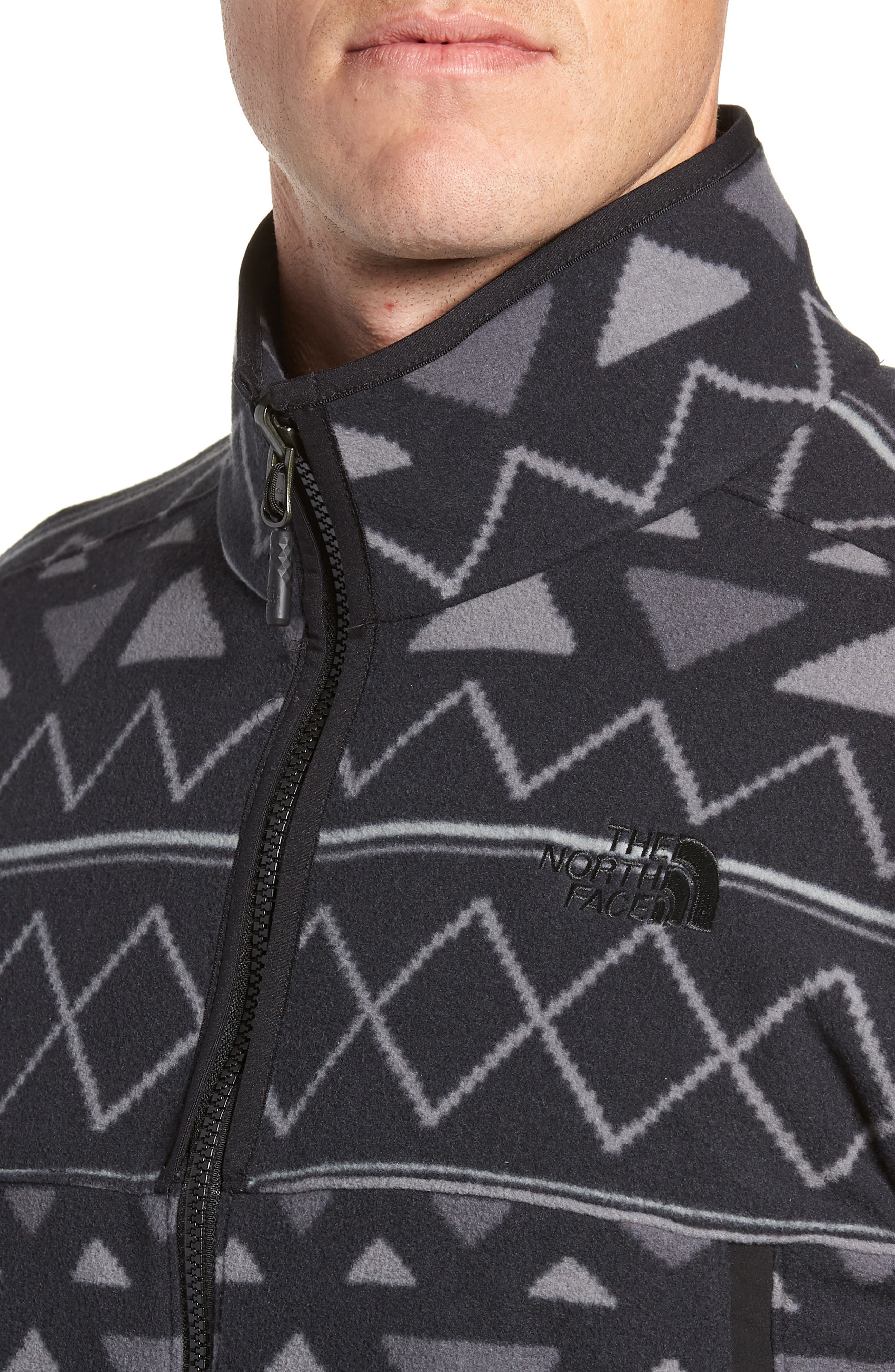 Glacier Alpine Jacket,                             Alternate thumbnail 4, color,                             TNF BLACK TRIANGLE STRIPE