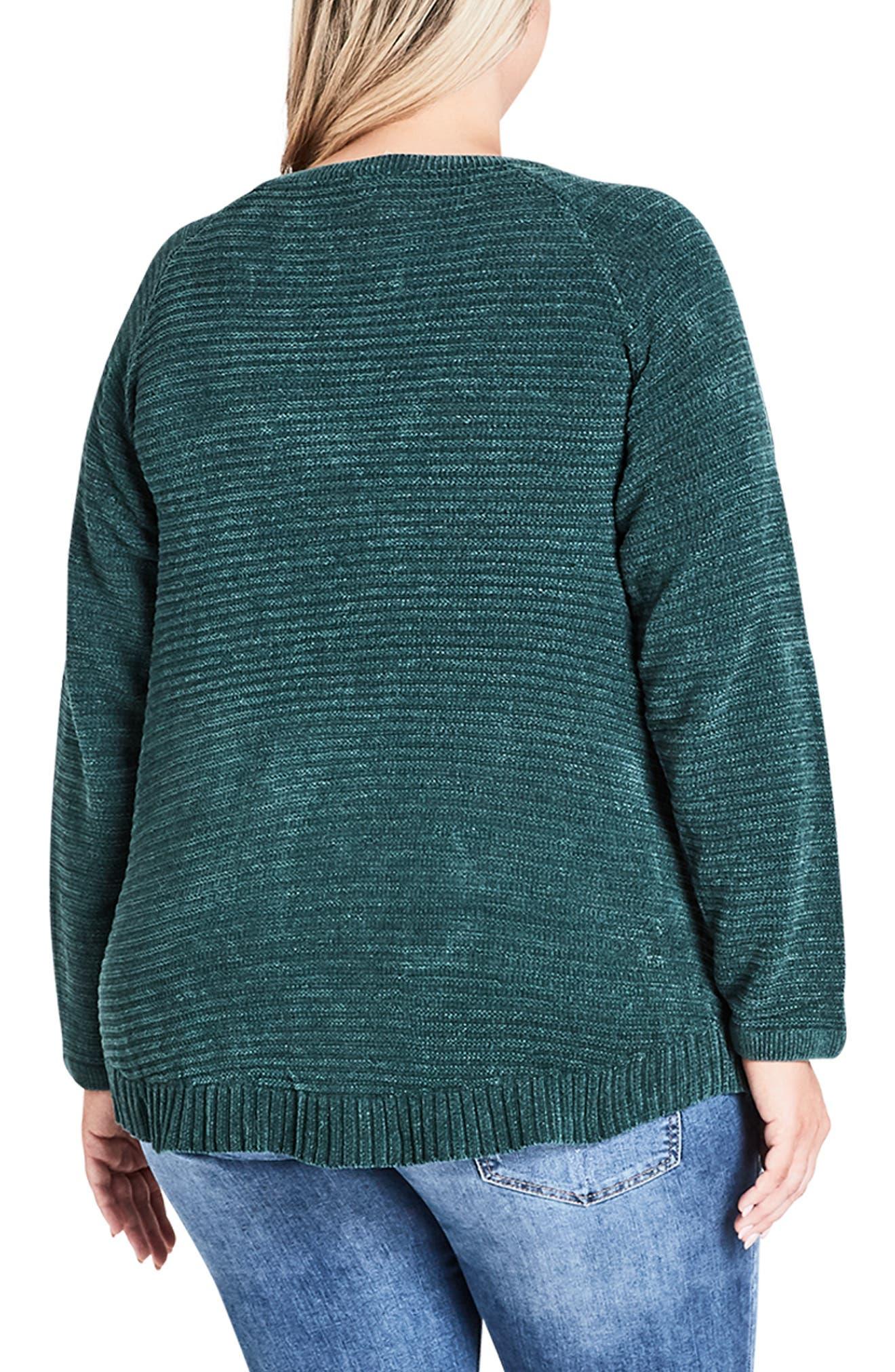 Zip Detail Sweater,                             Alternate thumbnail 2, color,                             EMERALD