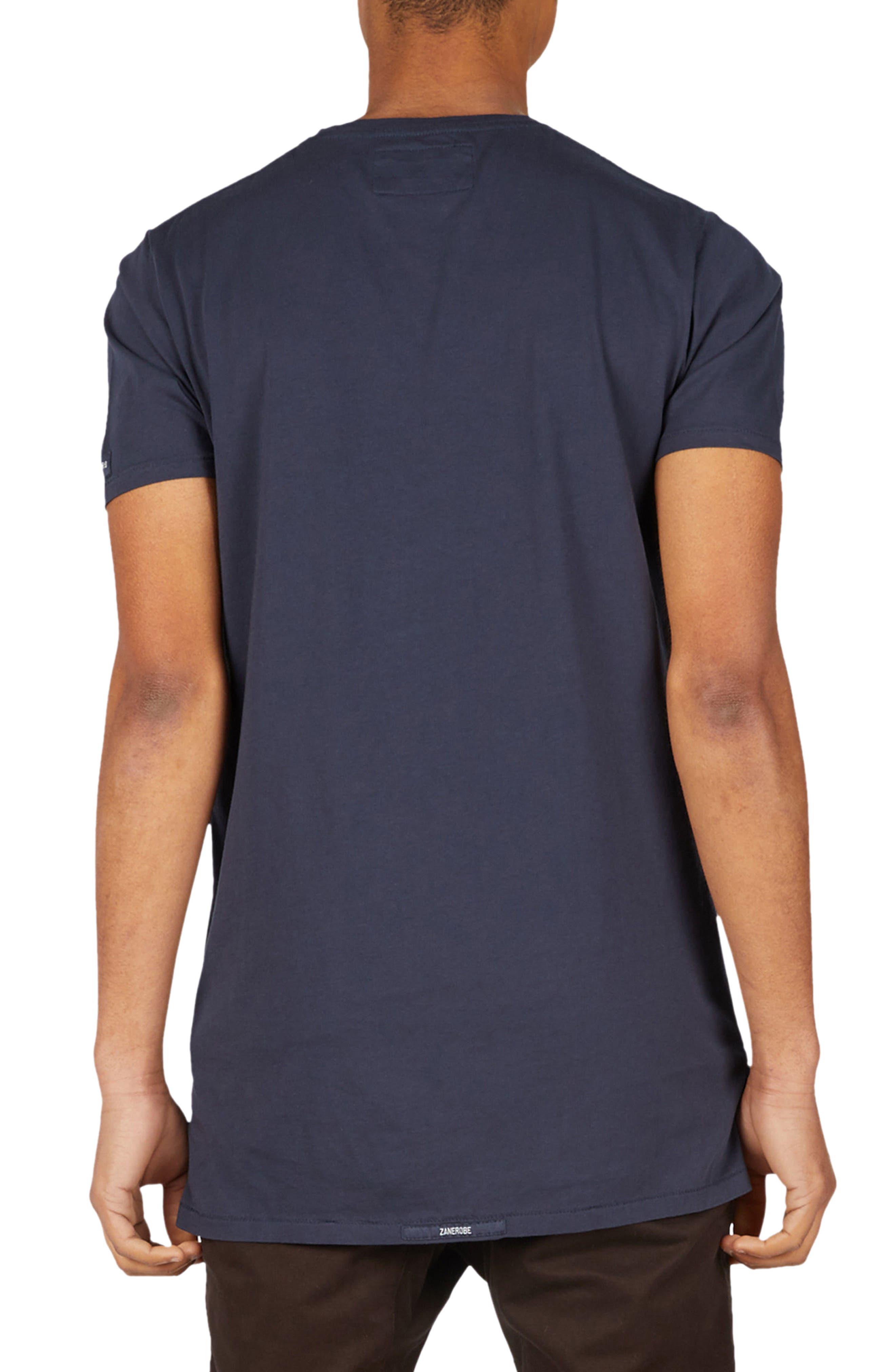Flintlock Longline T-Shirt,                             Alternate thumbnail 2, color,                             DUKE BLUE