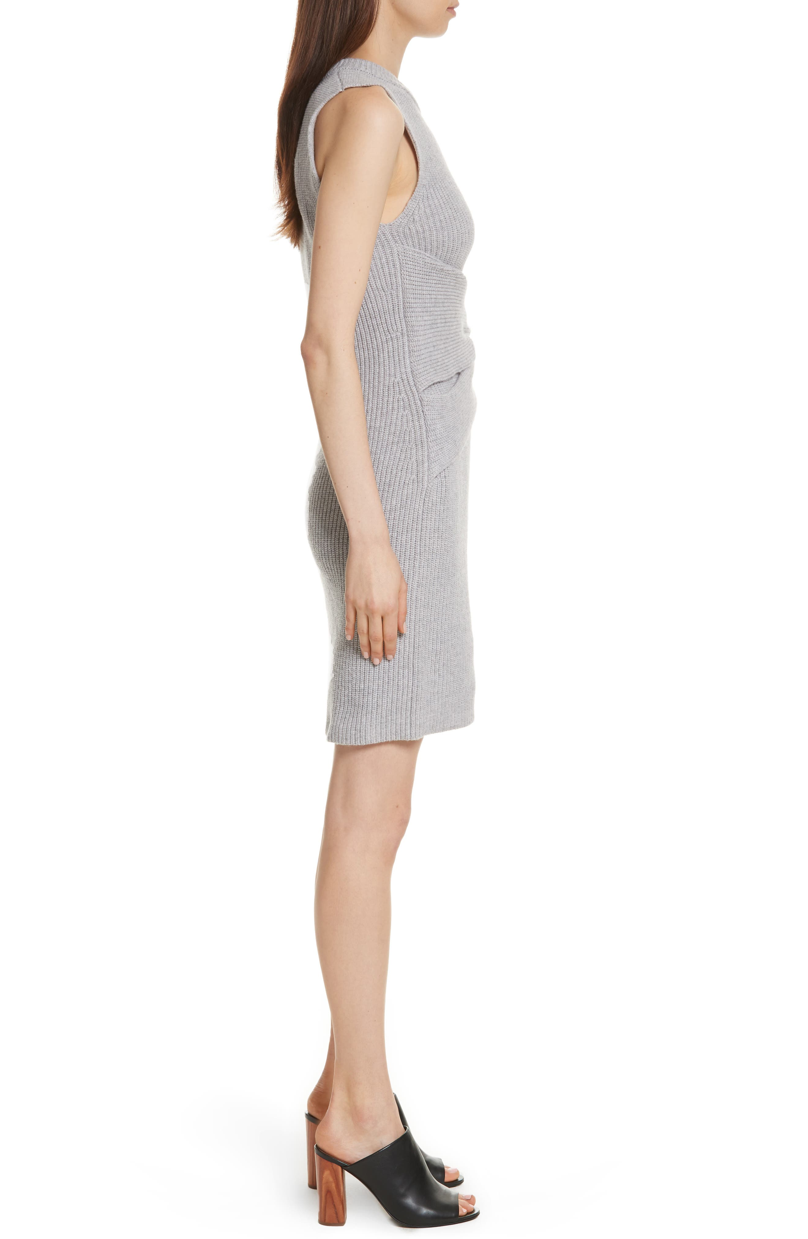 Twist Knit Dress,                             Alternate thumbnail 3, color,                             051