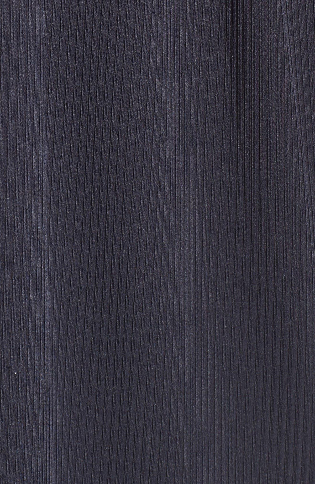 Ruffle Ribbed Knit Dress,                             Alternate thumbnail 5, color,                             410