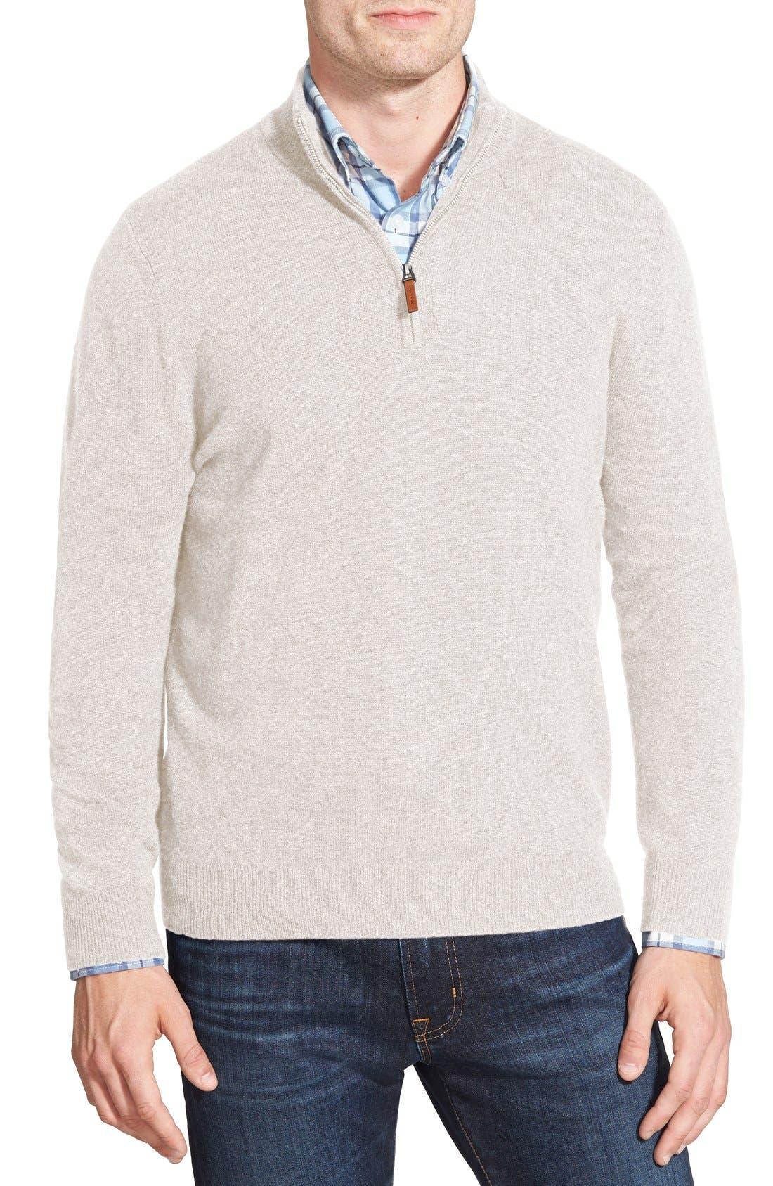 Cashmere Quarter Zip Sweater,                             Main thumbnail 8, color,