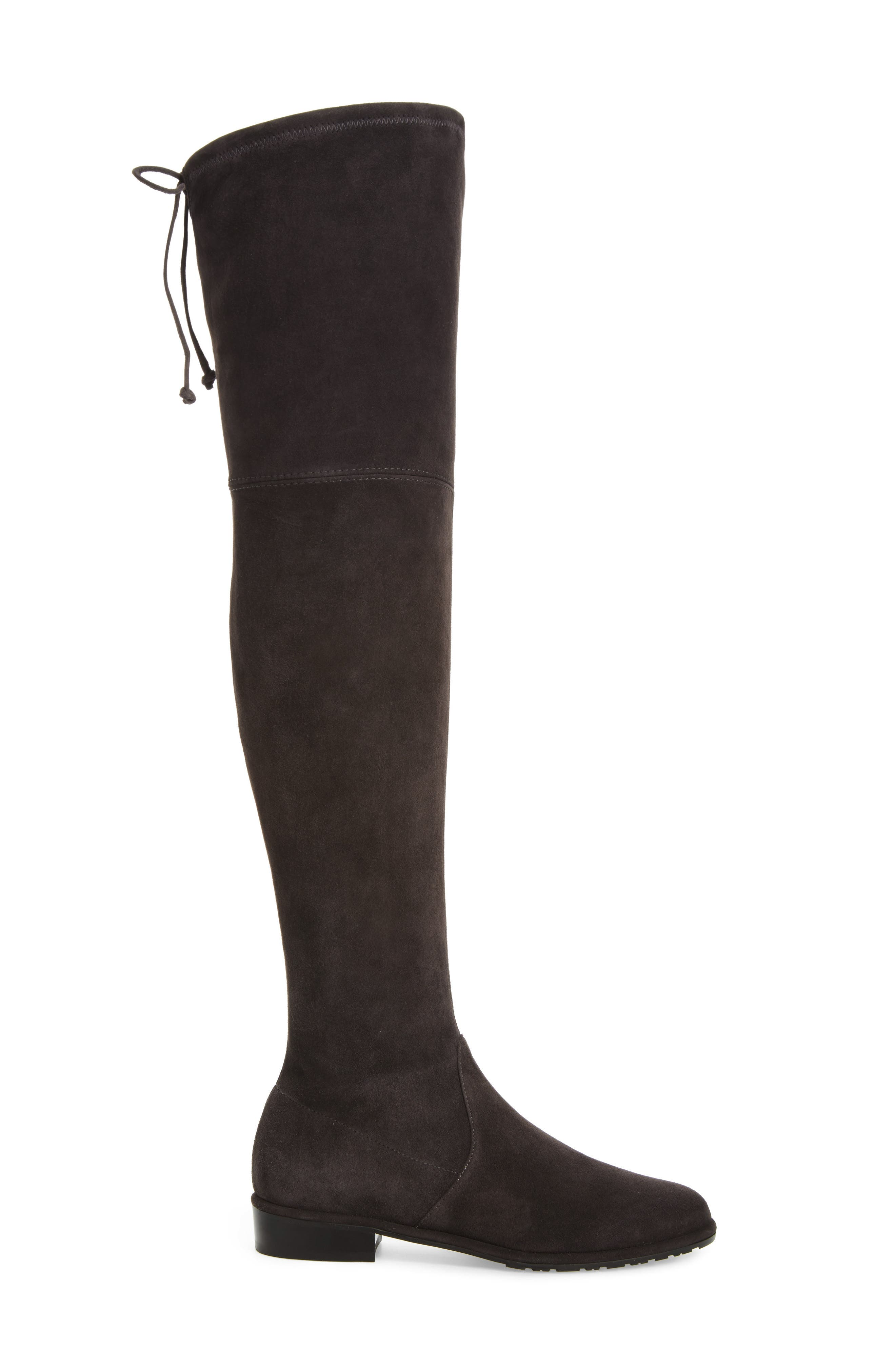 'Lowland' Over the Knee Boot,                             Alternate thumbnail 3, color,                             ASPHALT SUEDE