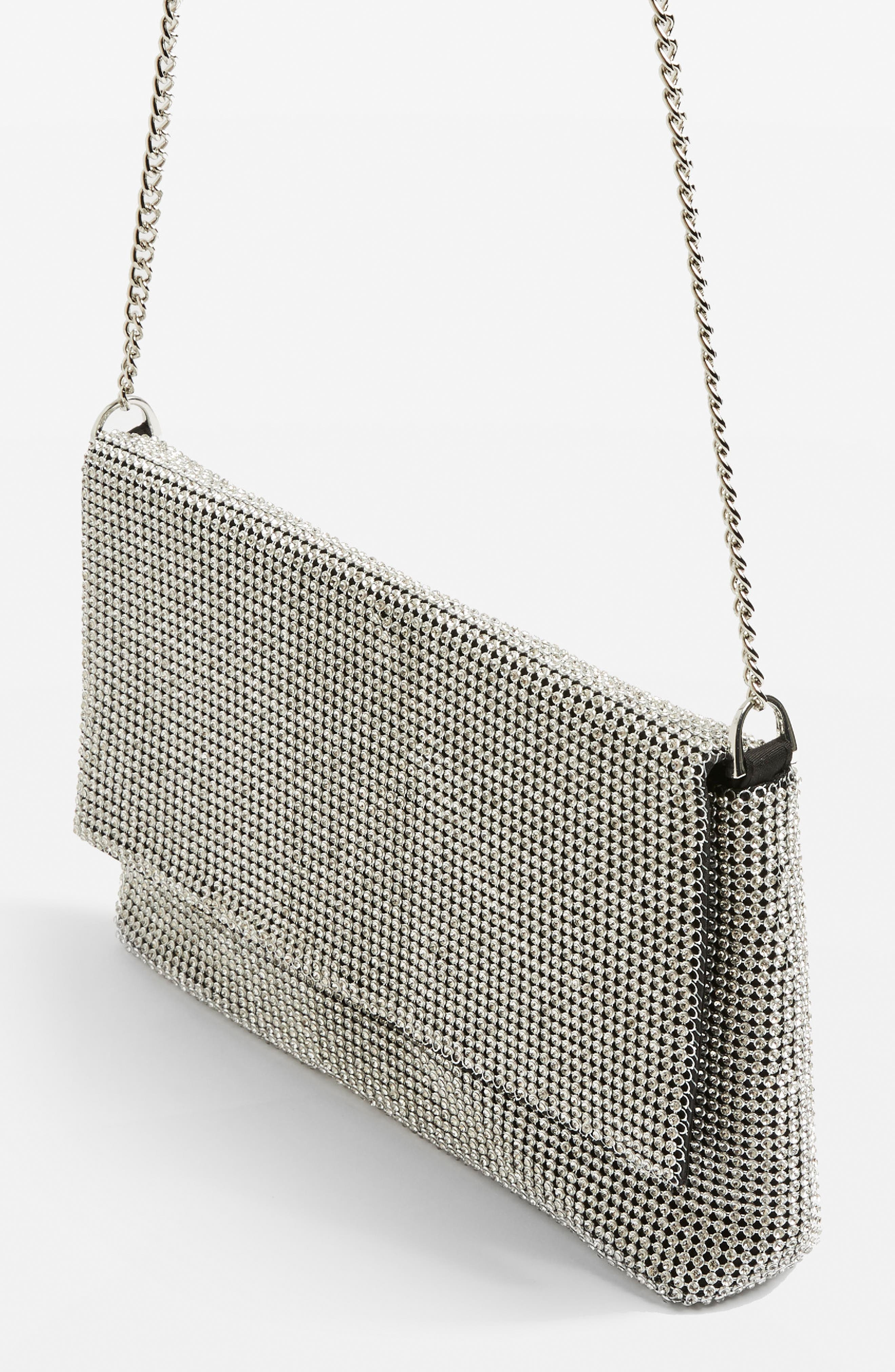 Diana Diamante Clutch Bag,                             Alternate thumbnail 4, color,                             040
