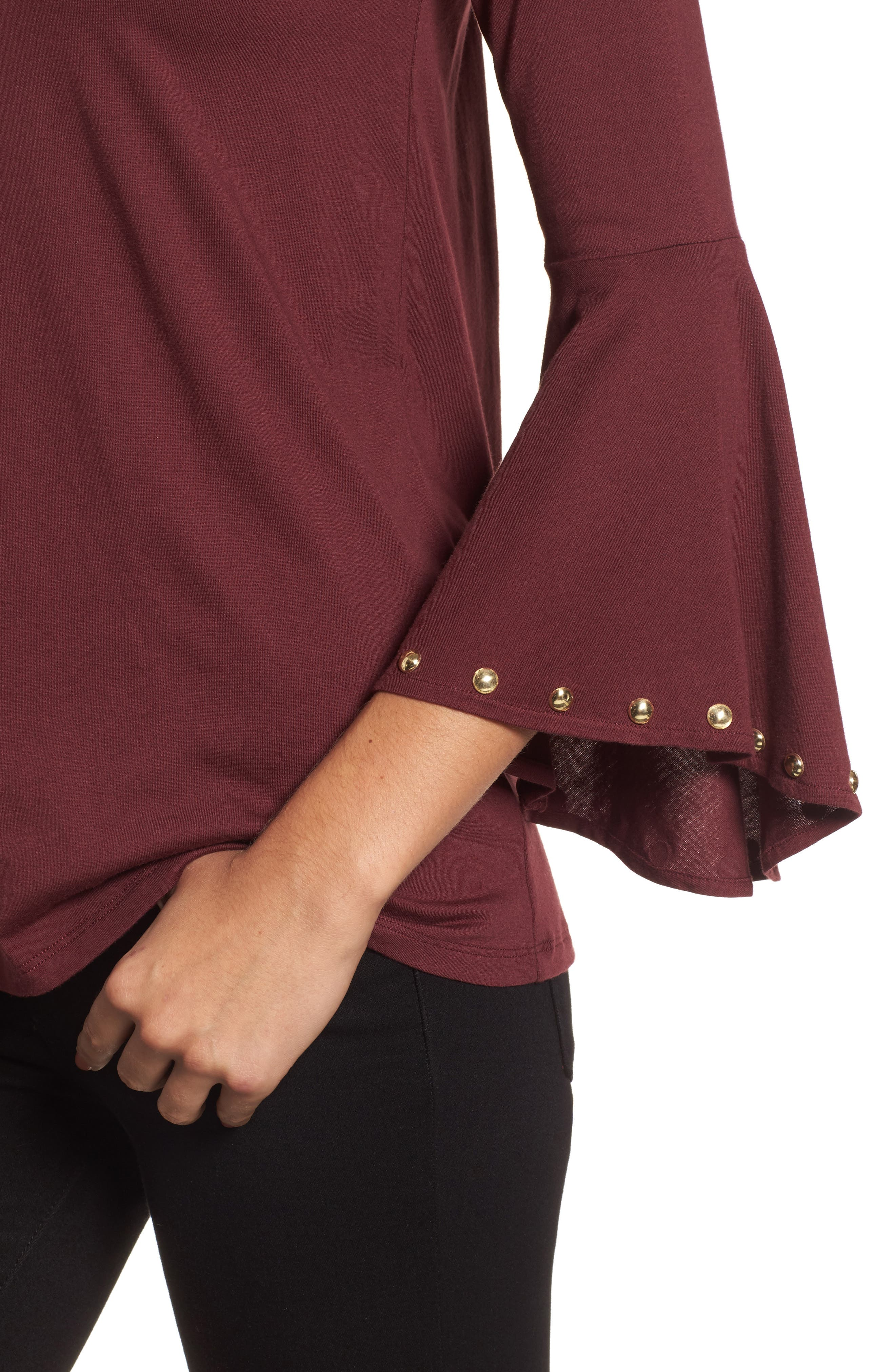 High/Low Bell Sleeve Top,                             Alternate thumbnail 12, color,