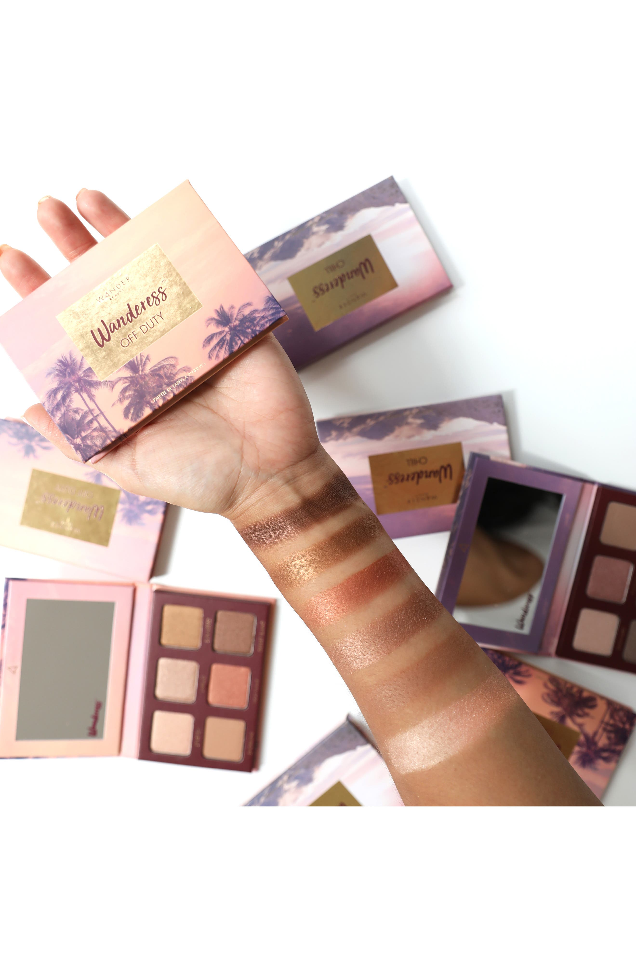 WANDER BEAUTY,                             Wanderess Off Duty Eyeshadow Palette,                             Alternate thumbnail 2, color,                             NO COLOR