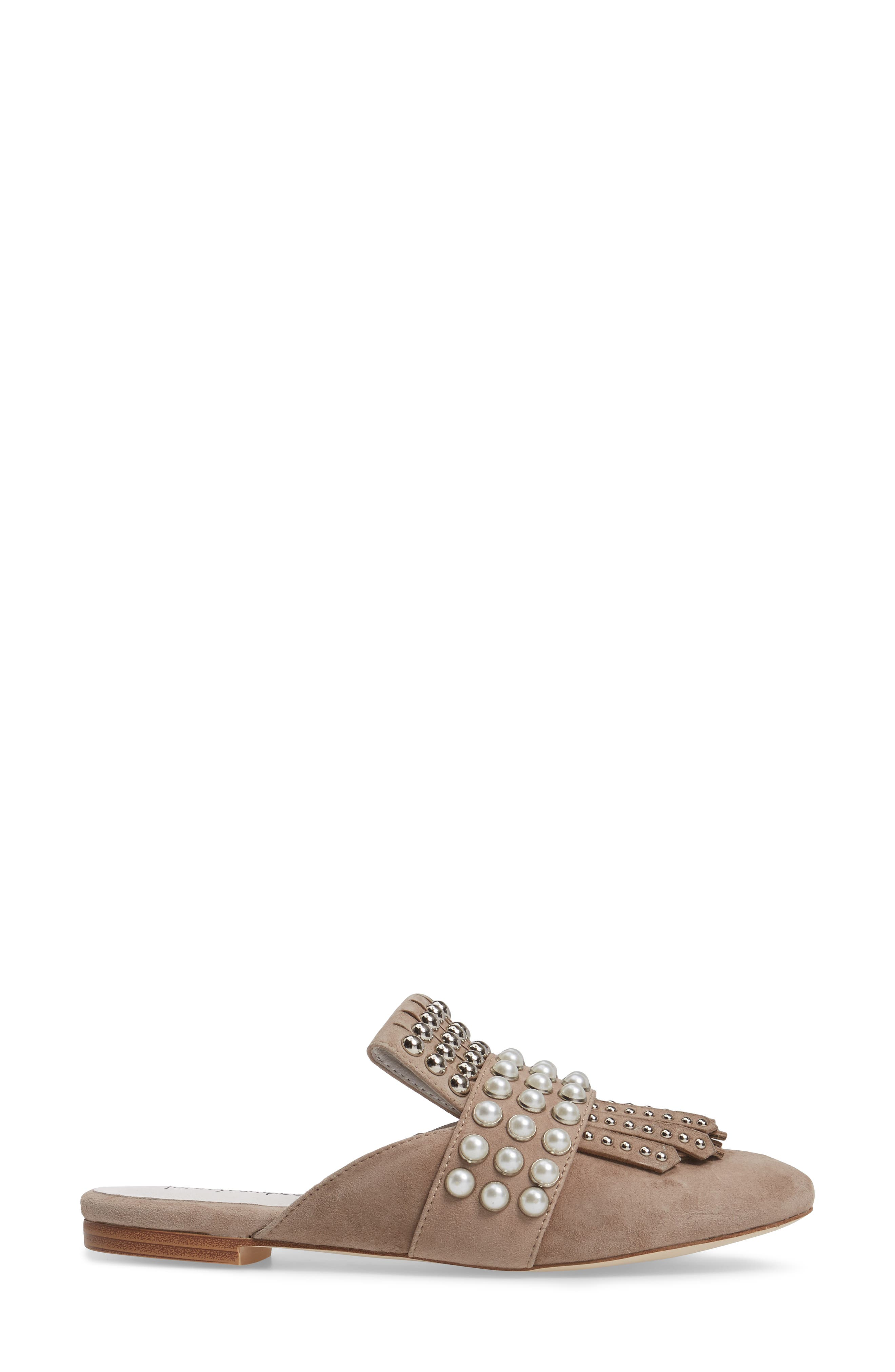 Ravis Embellished Loafer Mule,                             Alternate thumbnail 3, color,                             201