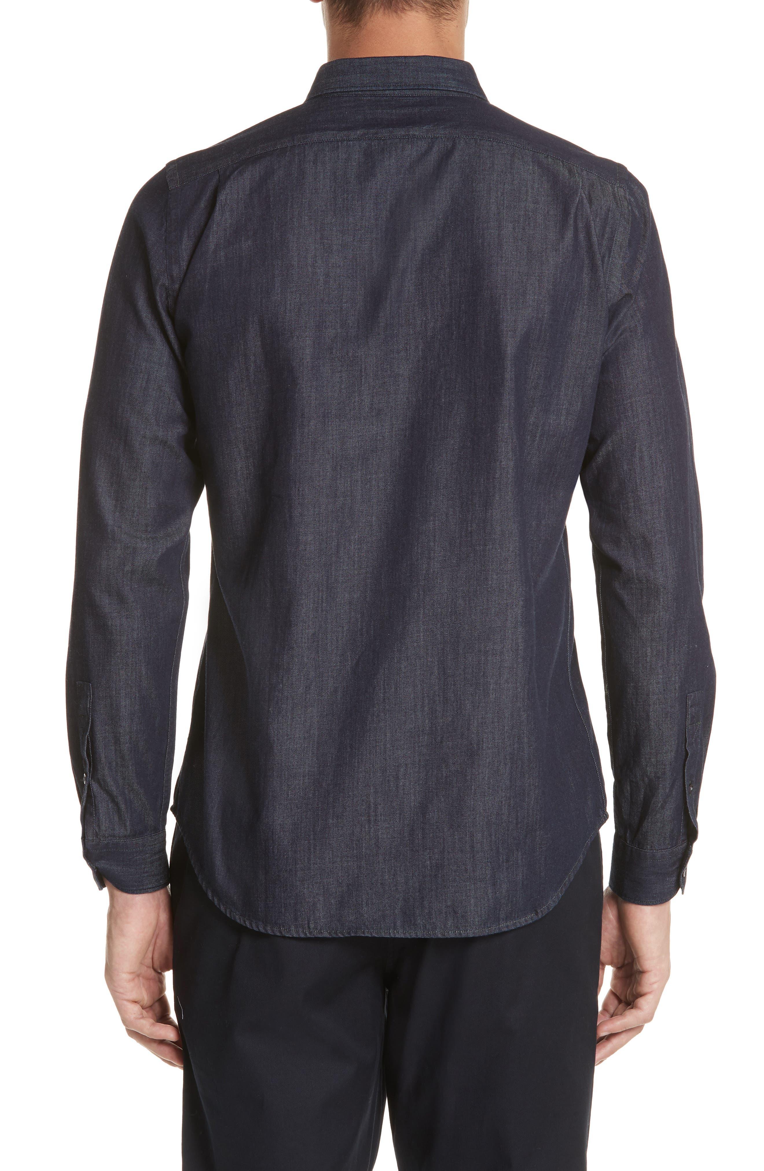 Denim Shirt,                             Alternate thumbnail 2, color,                             NAVY