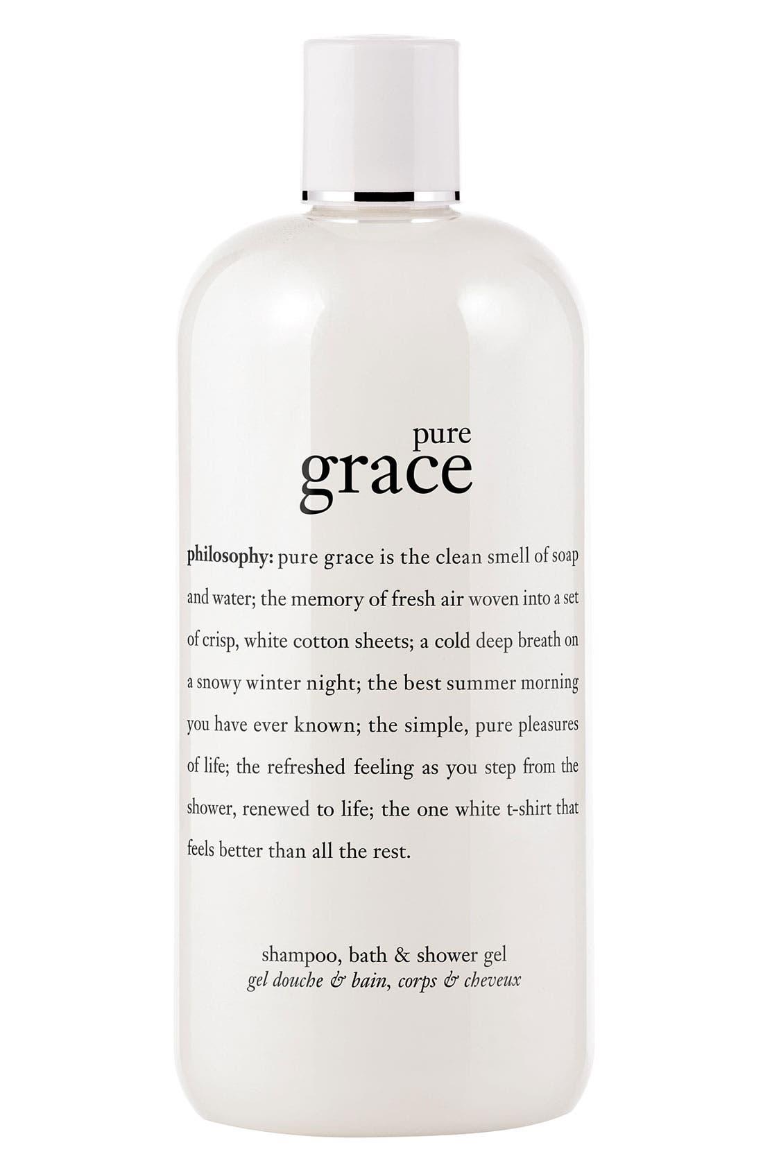 'pure grace' shampoo, bath & shower gel,                             Main thumbnail 1, color,                             NO COLOR