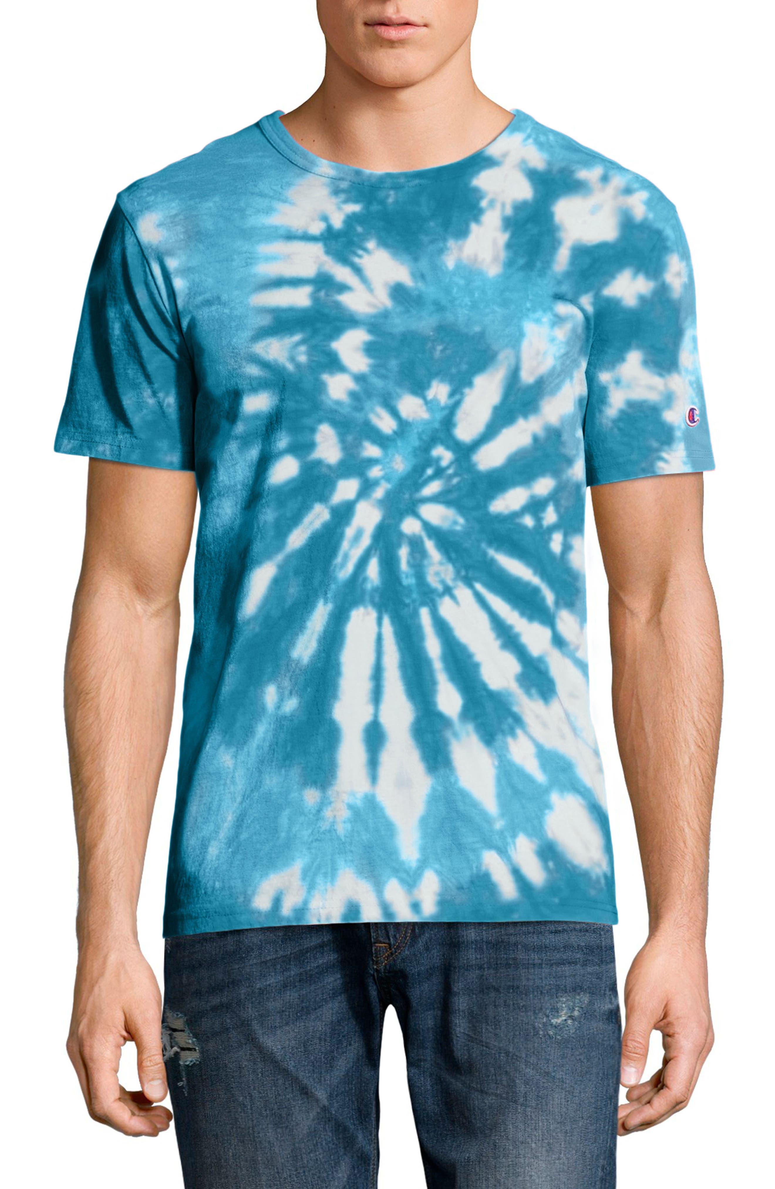 Tie Dye Jersey T-Shirt,                             Main thumbnail 1, color,                             NAVY