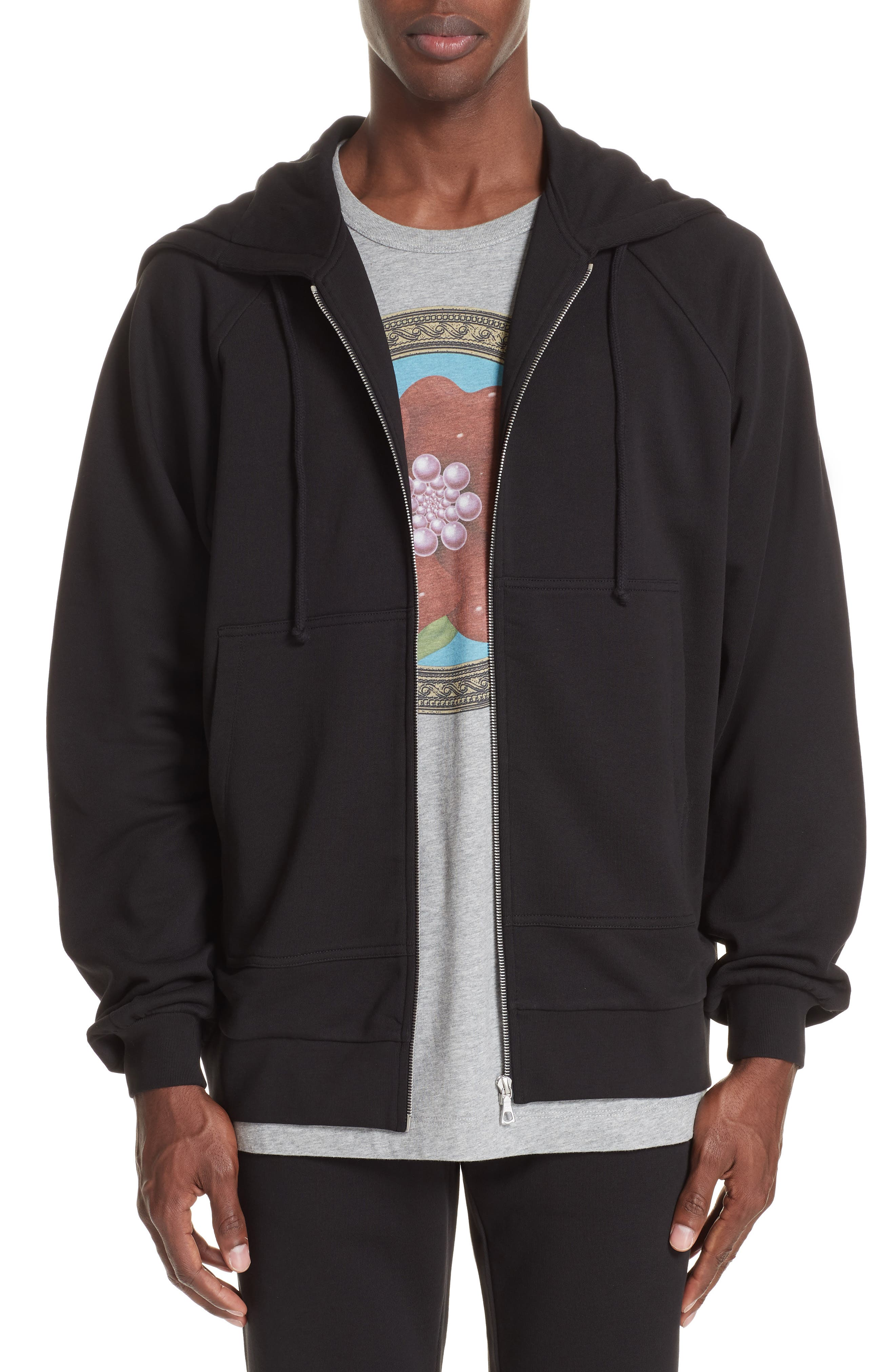 Oversize Hoodie,                         Main,                         color, BLACK