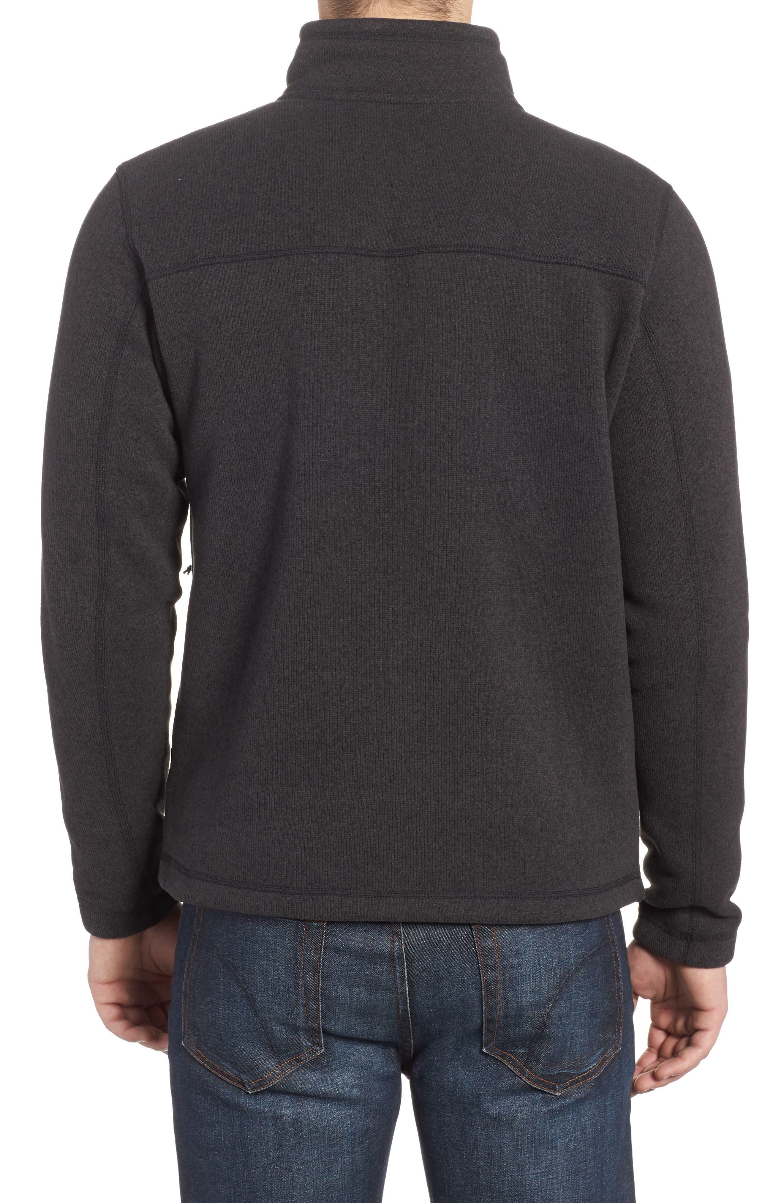 'Gordon Lyons' Zip Fleece Jacket,                             Alternate thumbnail 2, color,                             BLACK HEATHER