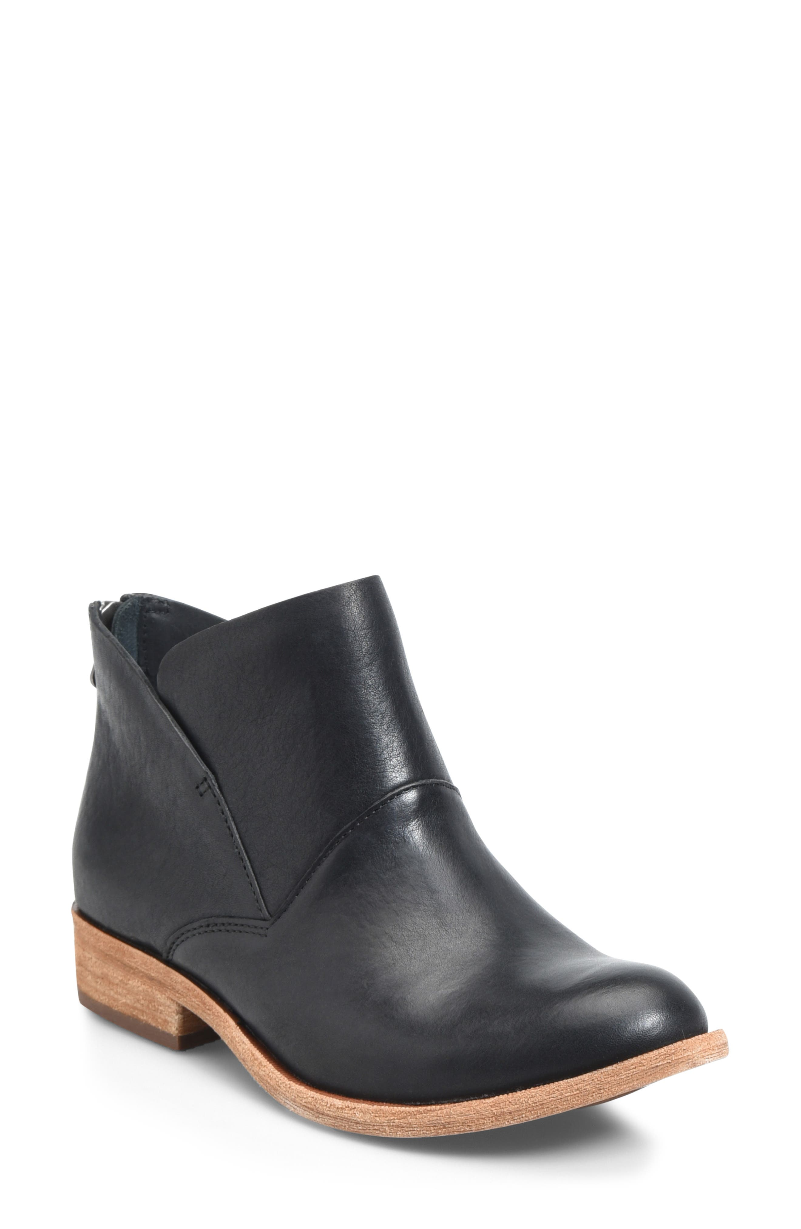 Ryder Ankle Boot,                             Main thumbnail 1, color,                             BLACK LEATHER