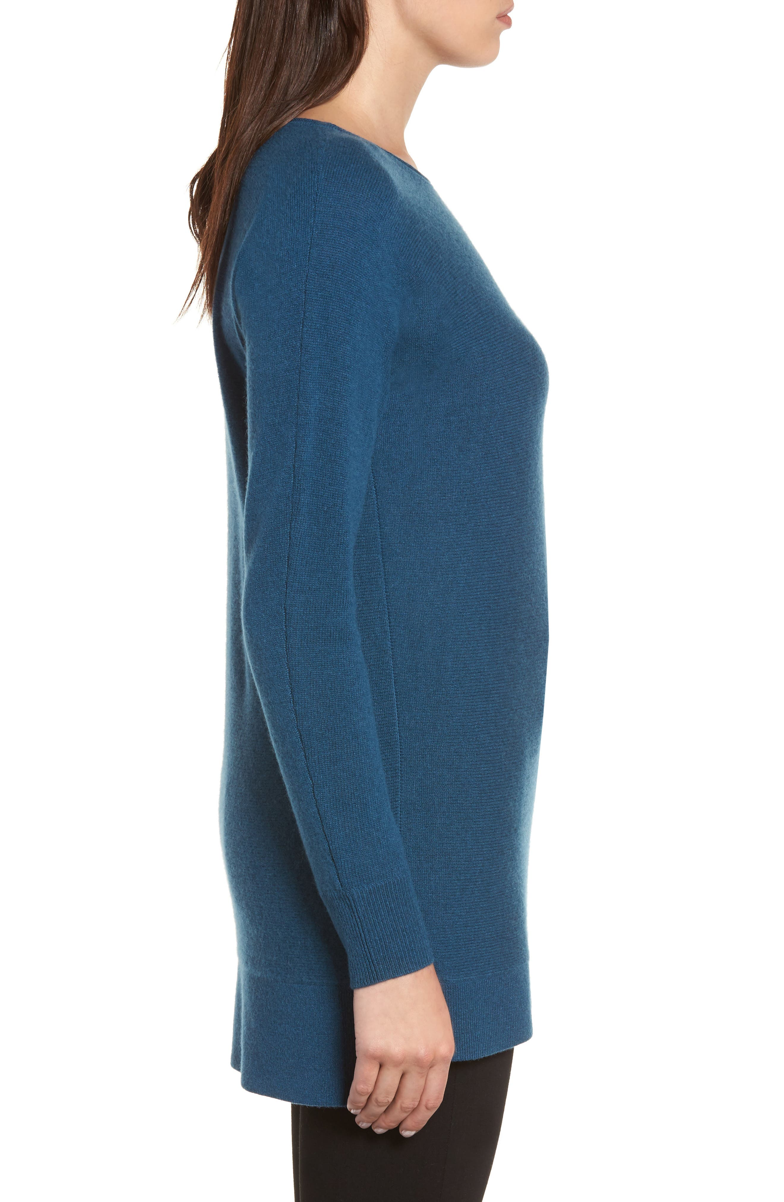 High/Low Wool & Cashmere Tunic Sweater,                             Alternate thumbnail 42, color,