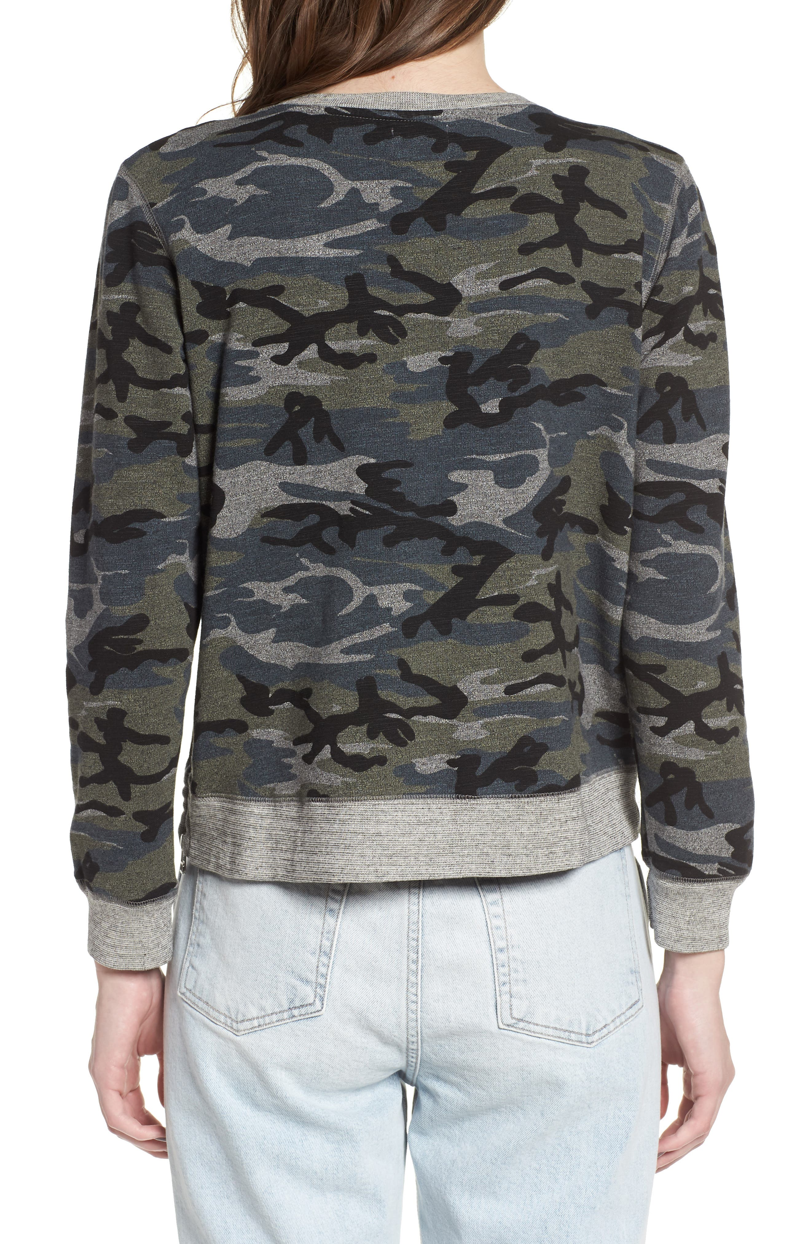 Camo Pullover,                             Alternate thumbnail 2, color,                             020