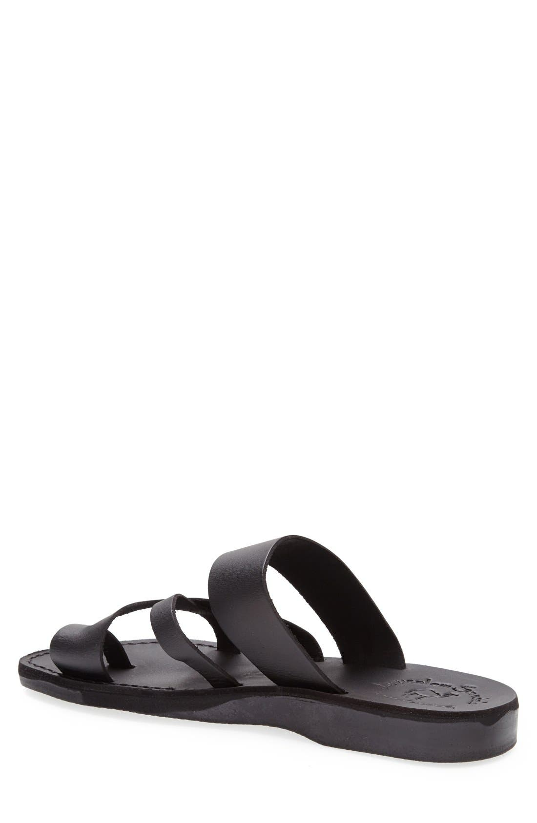 'The Good Shepherd' Leather Sandal,                             Alternate thumbnail 2, color,                             001
